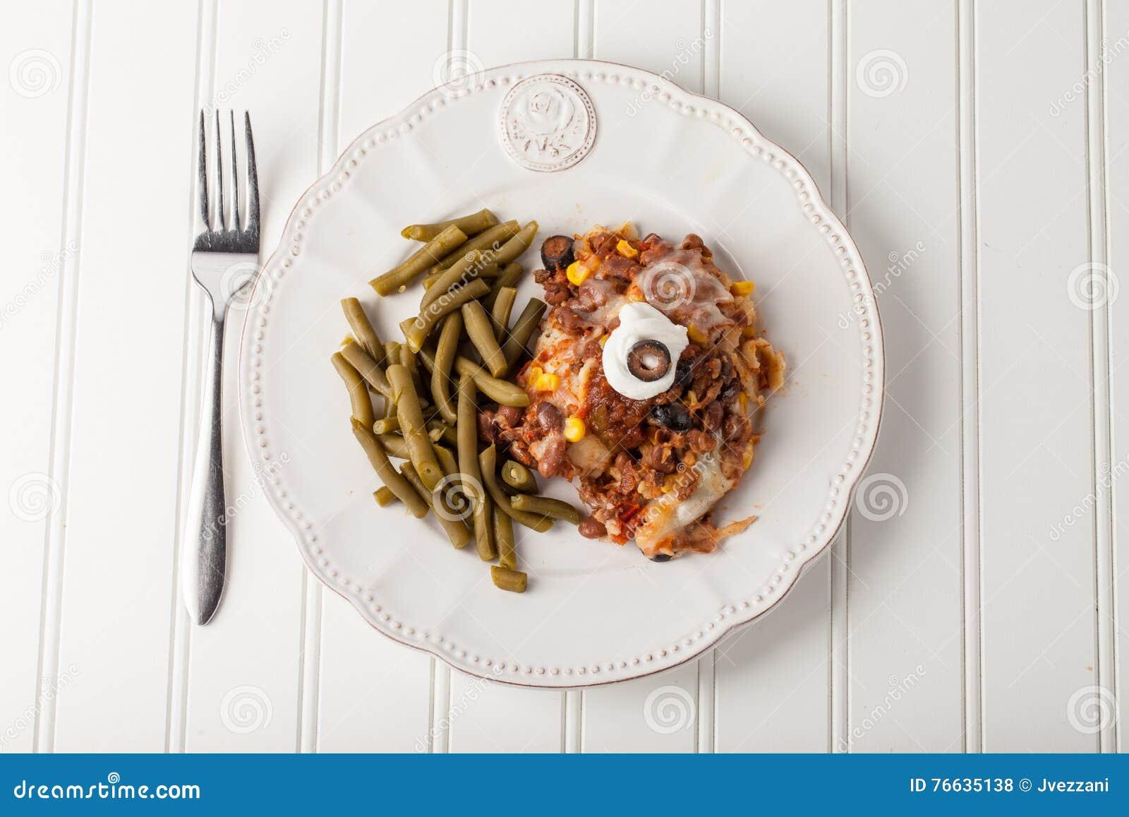 Fiesta Piec Meksykańskiego Lasagna