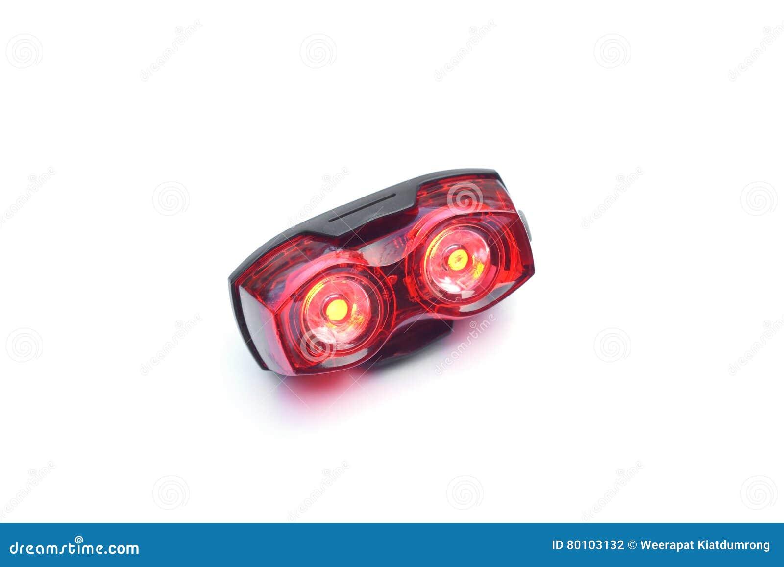Fiets achter lichte reflector