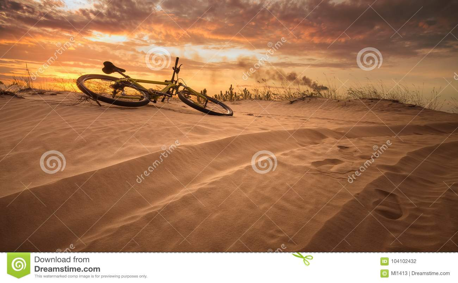 Fiets in de woestijn