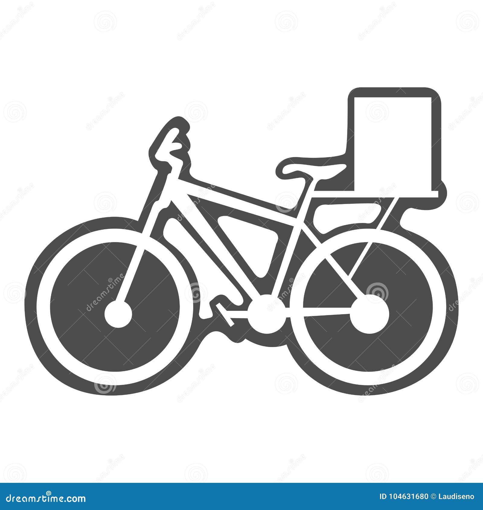 Download Fiets met doos vector illustratie. Illustratie bestaande uit vervoer - 104631680
