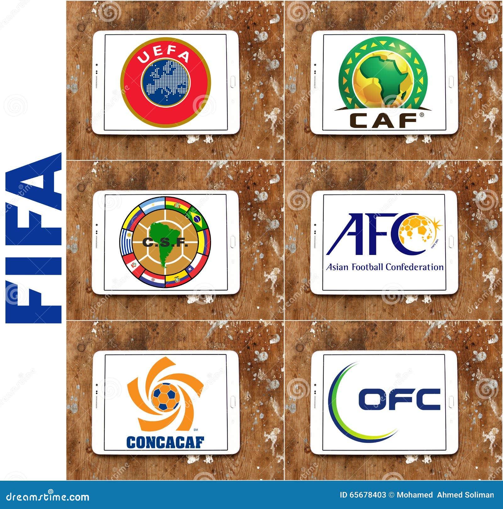 fifa football soccer confederations emblems and logos
