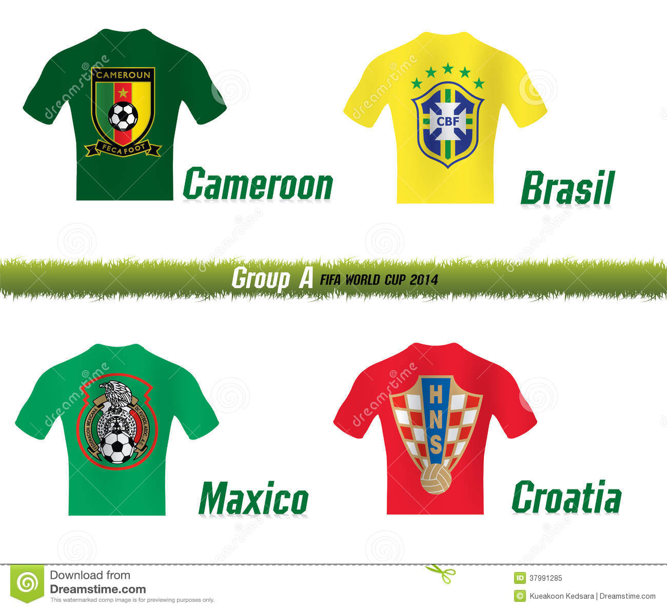 Fifa World Cup 2014 Group H Vector Illustration ...