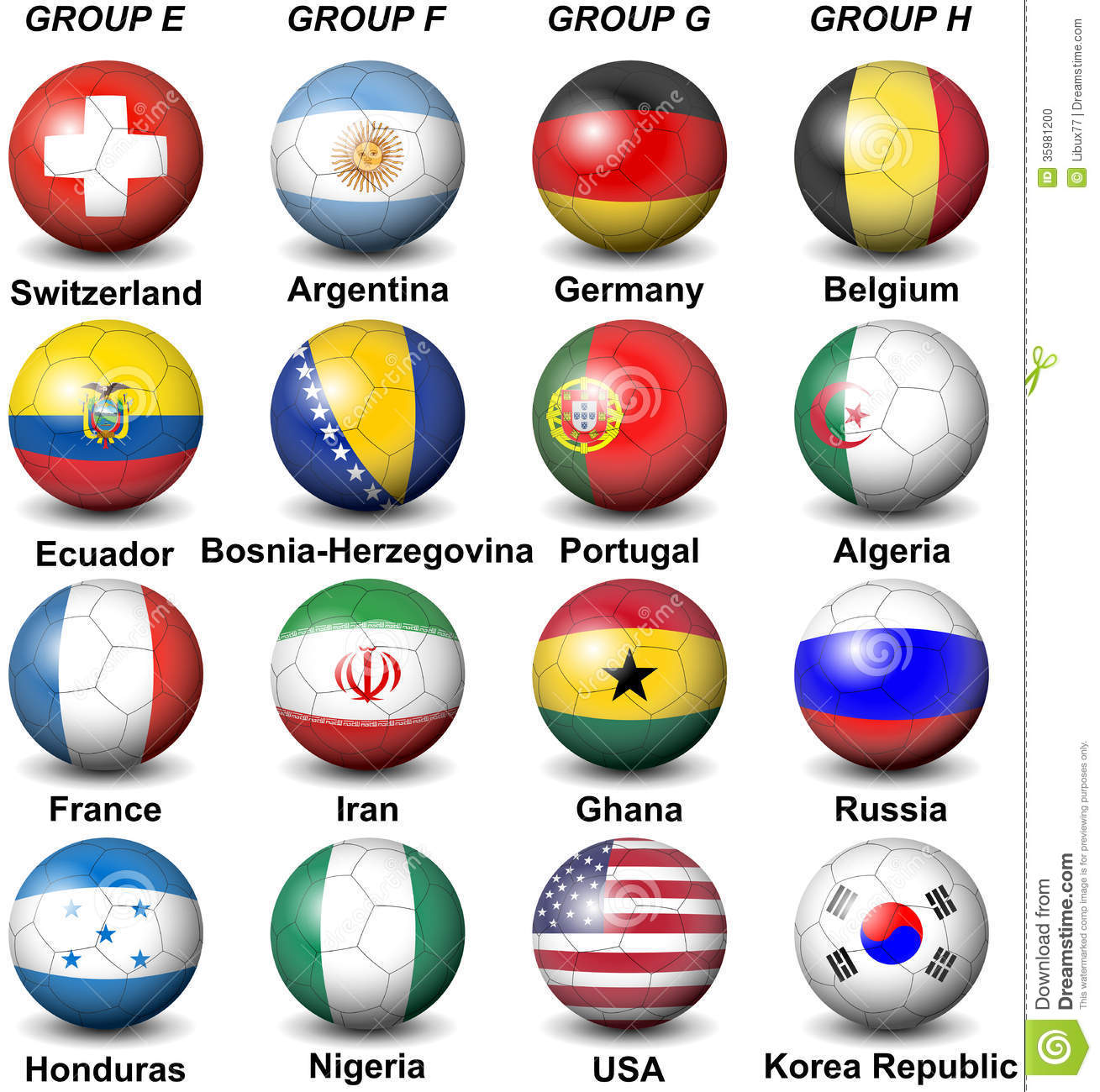 2014 Fifa World Cup Brazil Groups Editorial Image