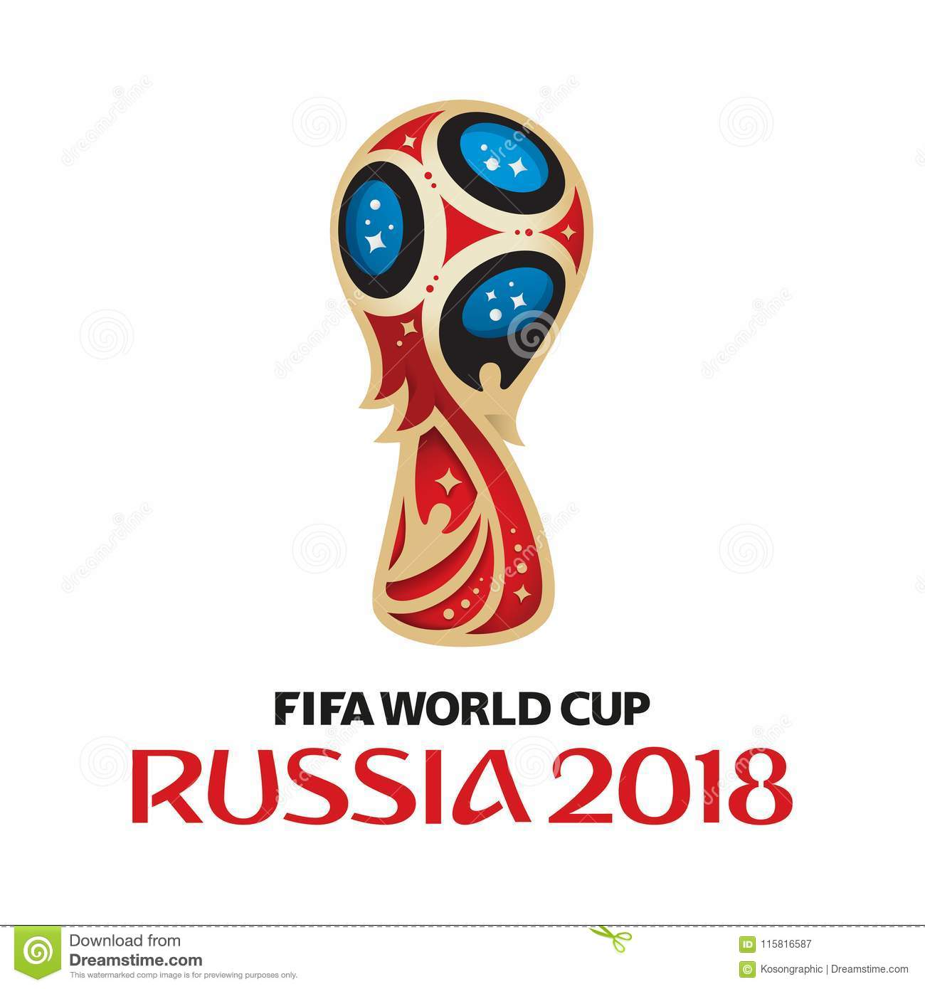 FIFA World Cup Russia 2018 logo on white background.