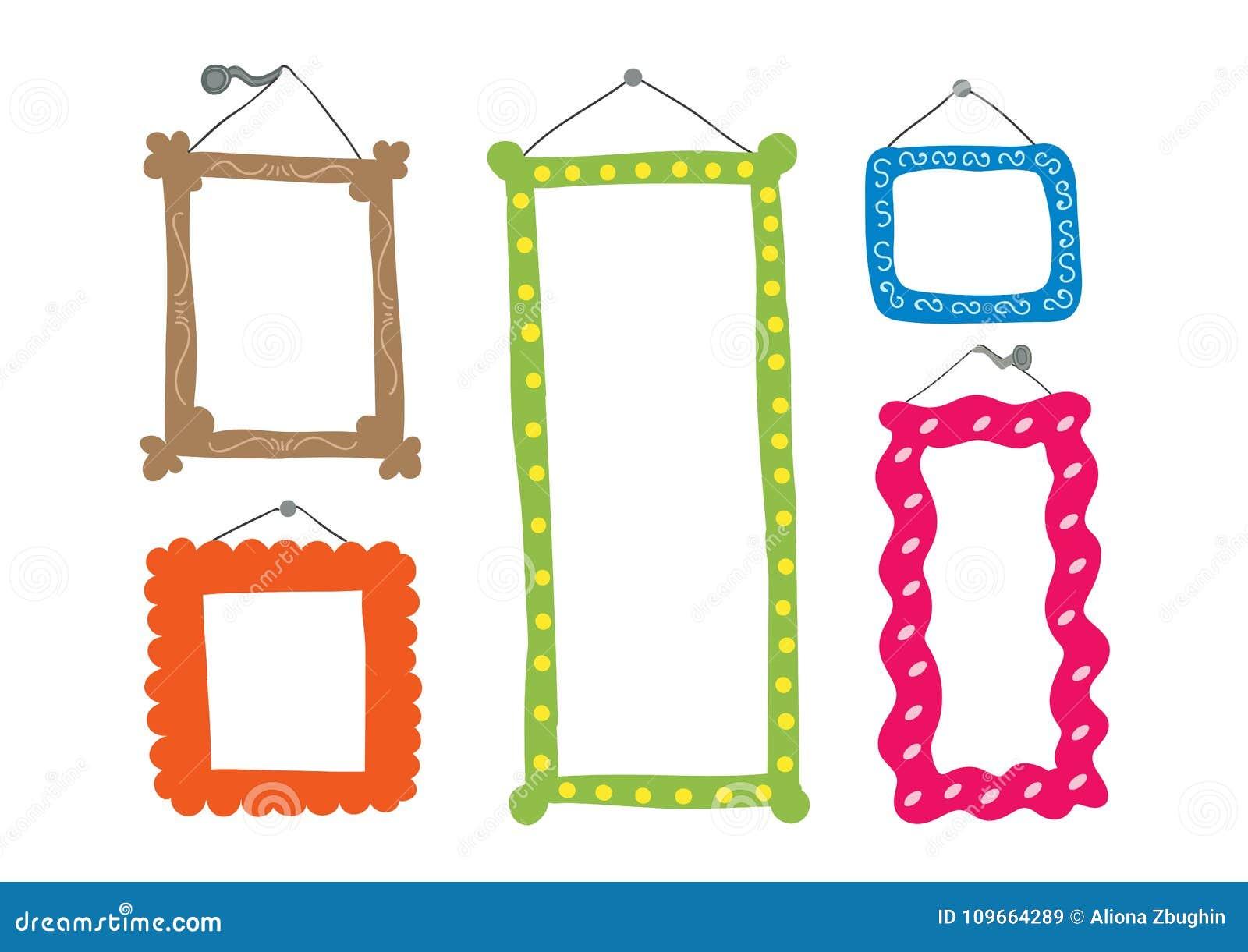 Cute frames stock illustration. Illustration of graphic ...