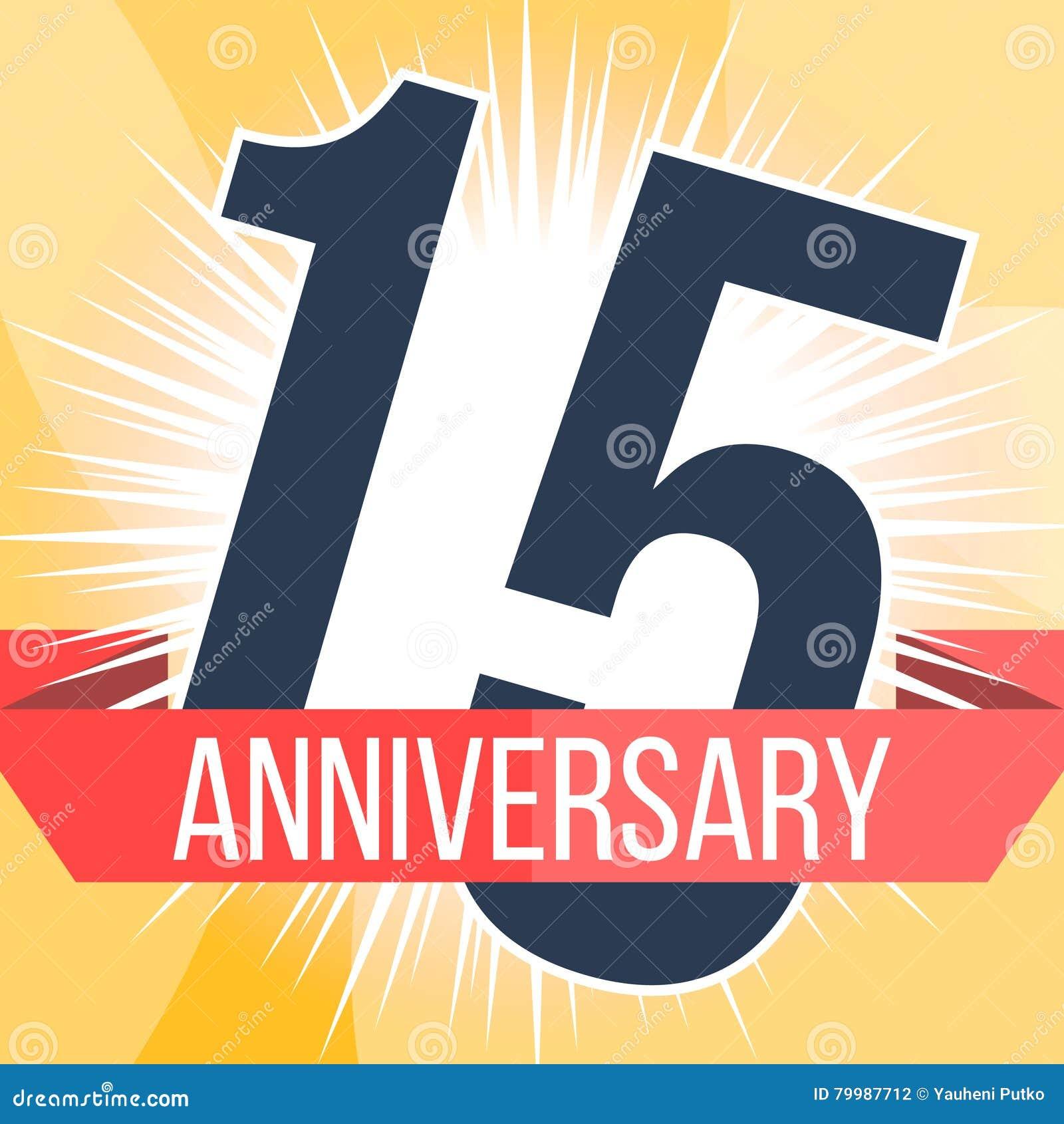 Fifteen Years Anniversary Banner 15th Anniversary Logo Vector