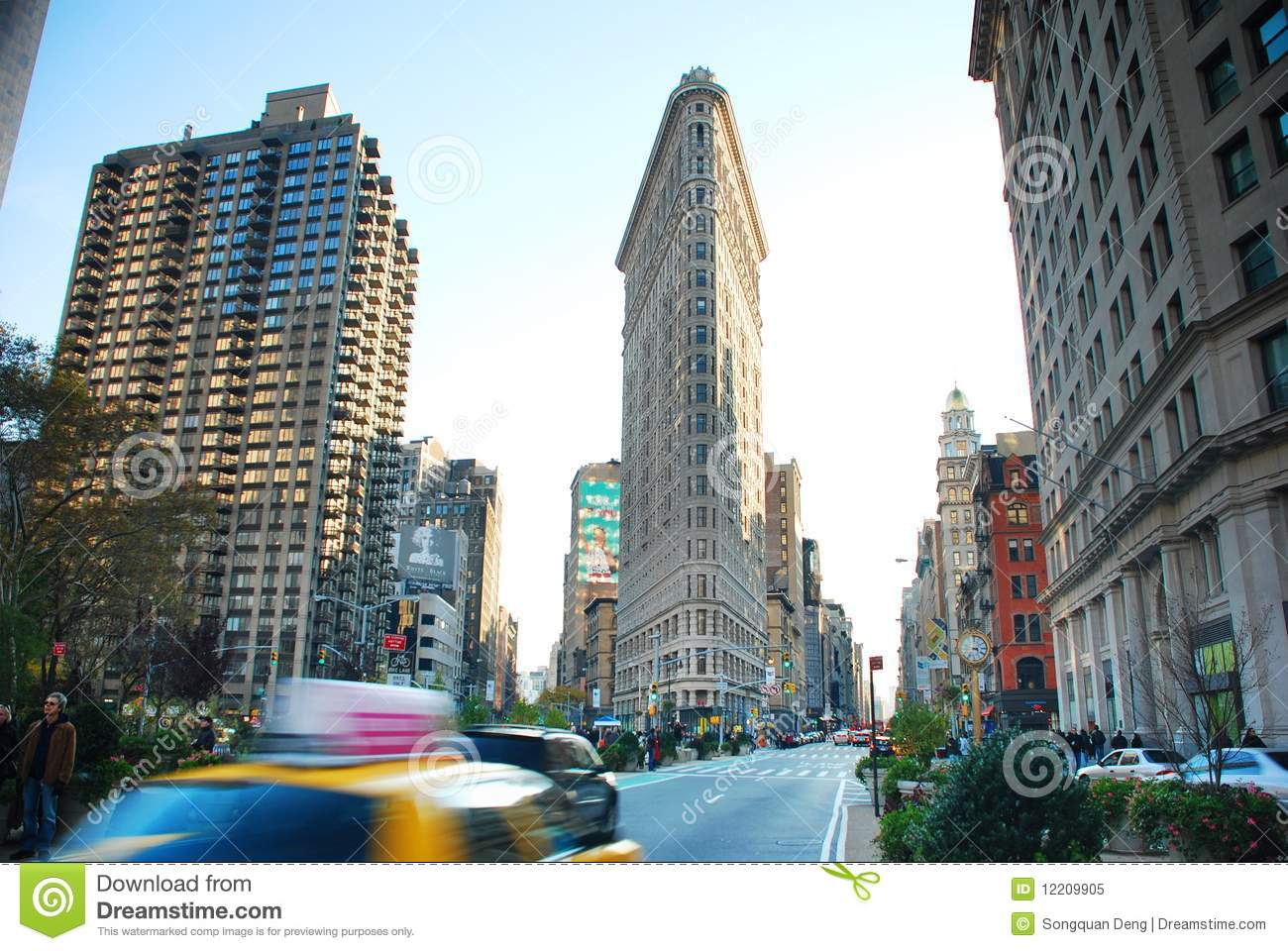 Fifth avenue of new york city with flatiron building