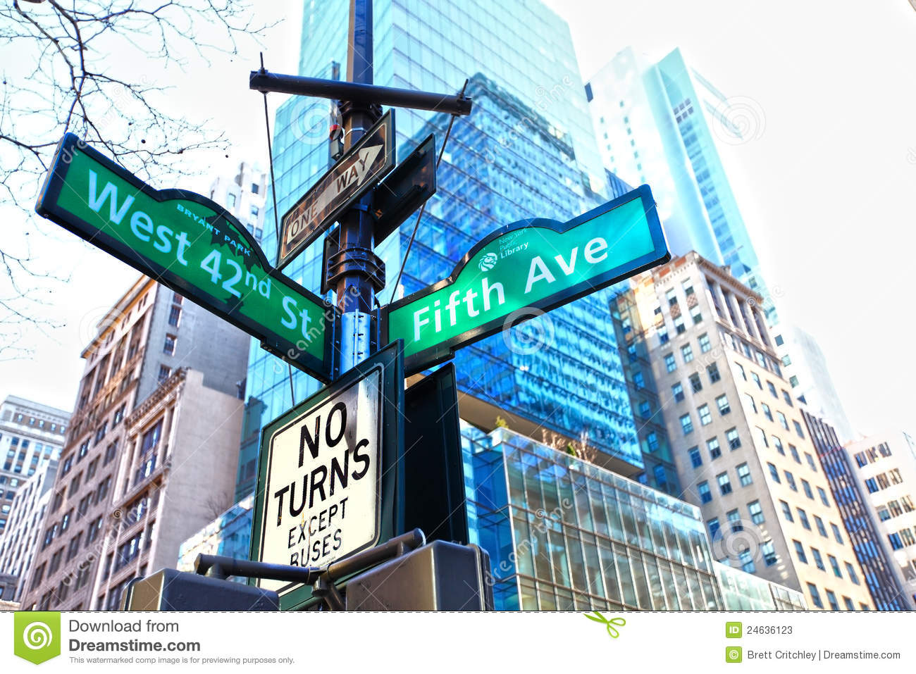 Fifth Avenue Street Sign New York Editorial Stock Photo ...
