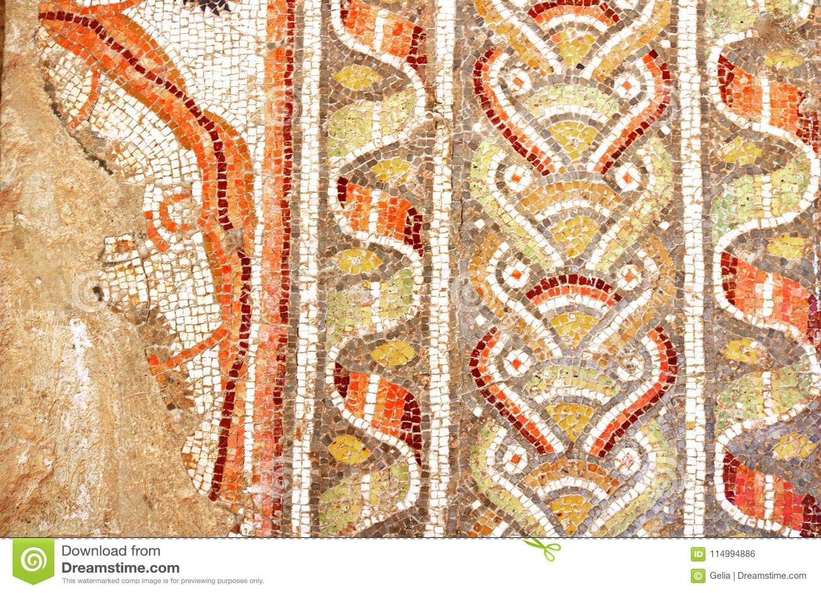 Maximillian Shemesh: Fifth-century Mosaic Exterior Wall Of St. Stephen`s Church