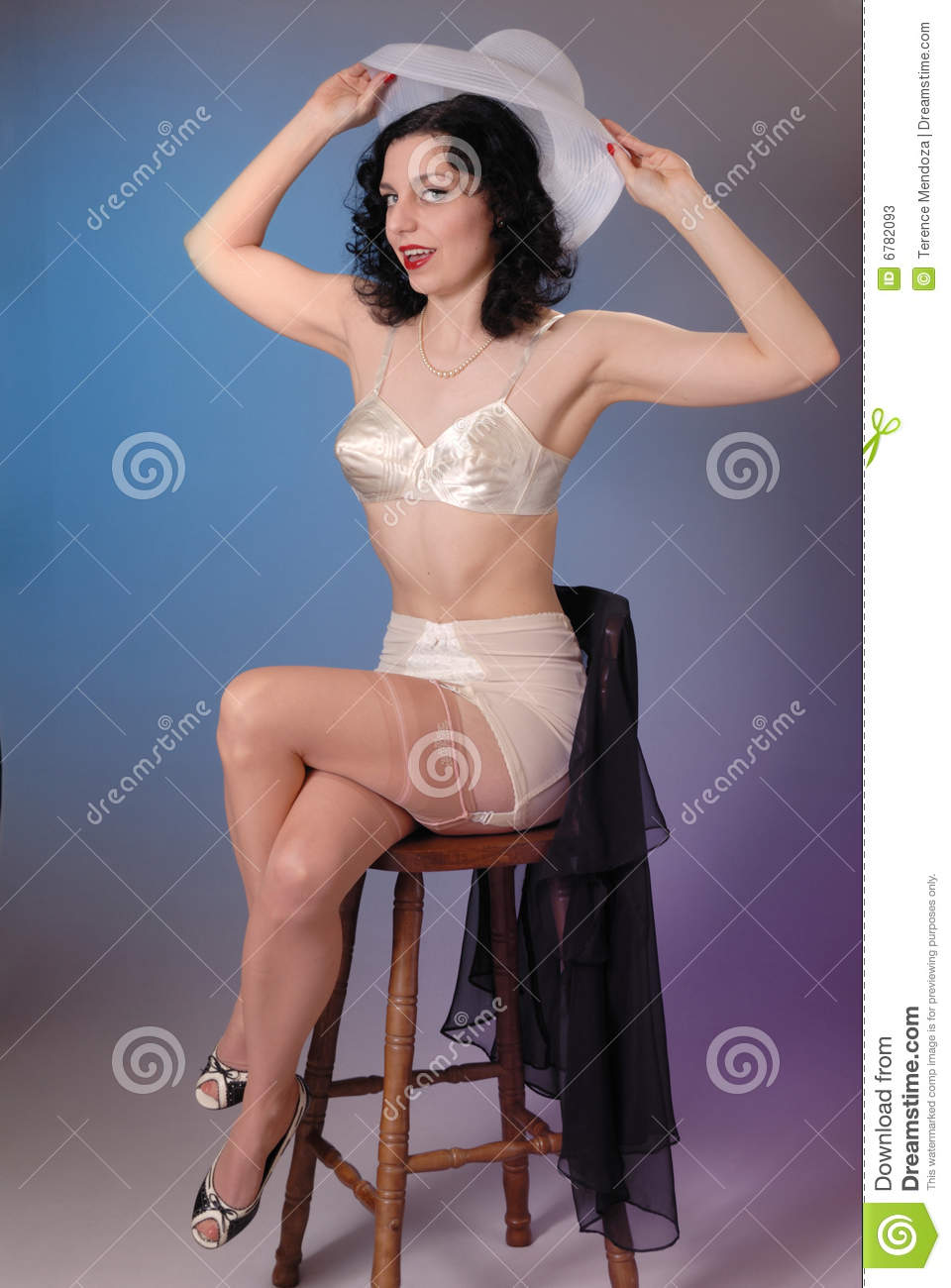 Fifties Cheesecake Girl Stock Image  Image Of Caucasian