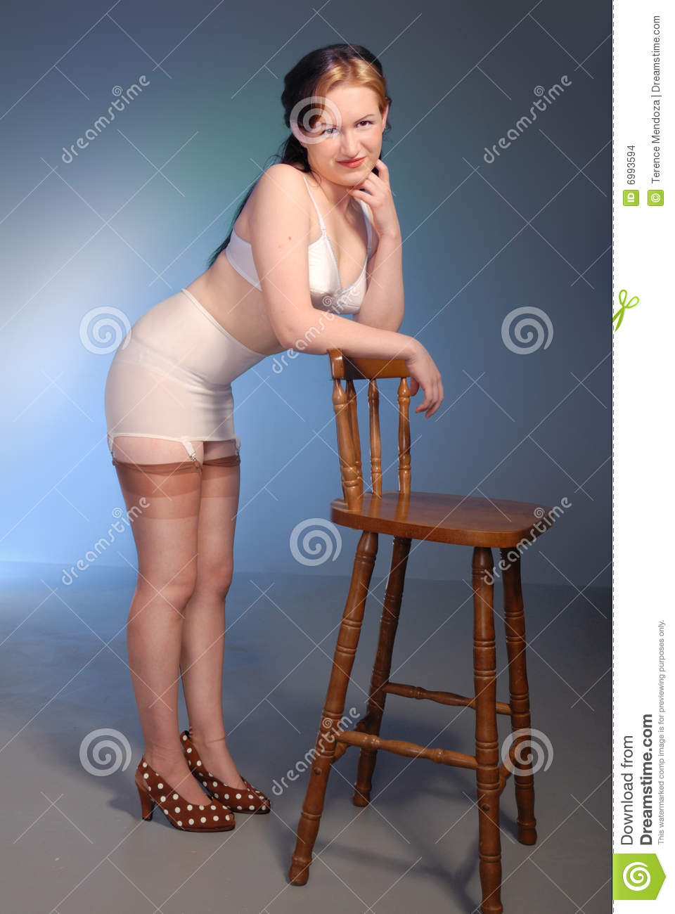 Women in girdles and stockings