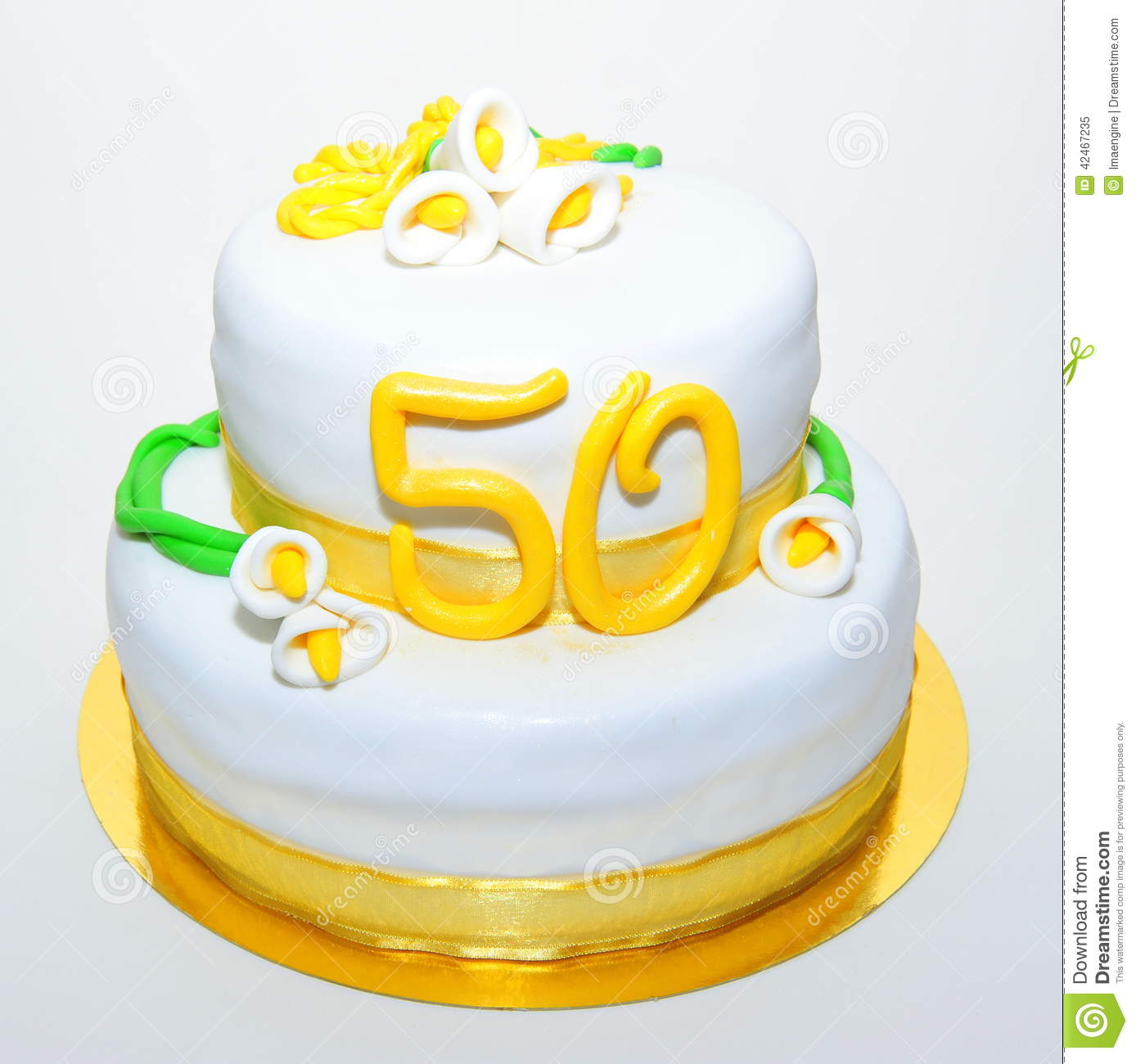 Fifty Years Of Marriage Anniversary Cake Stock Image - Image of ...