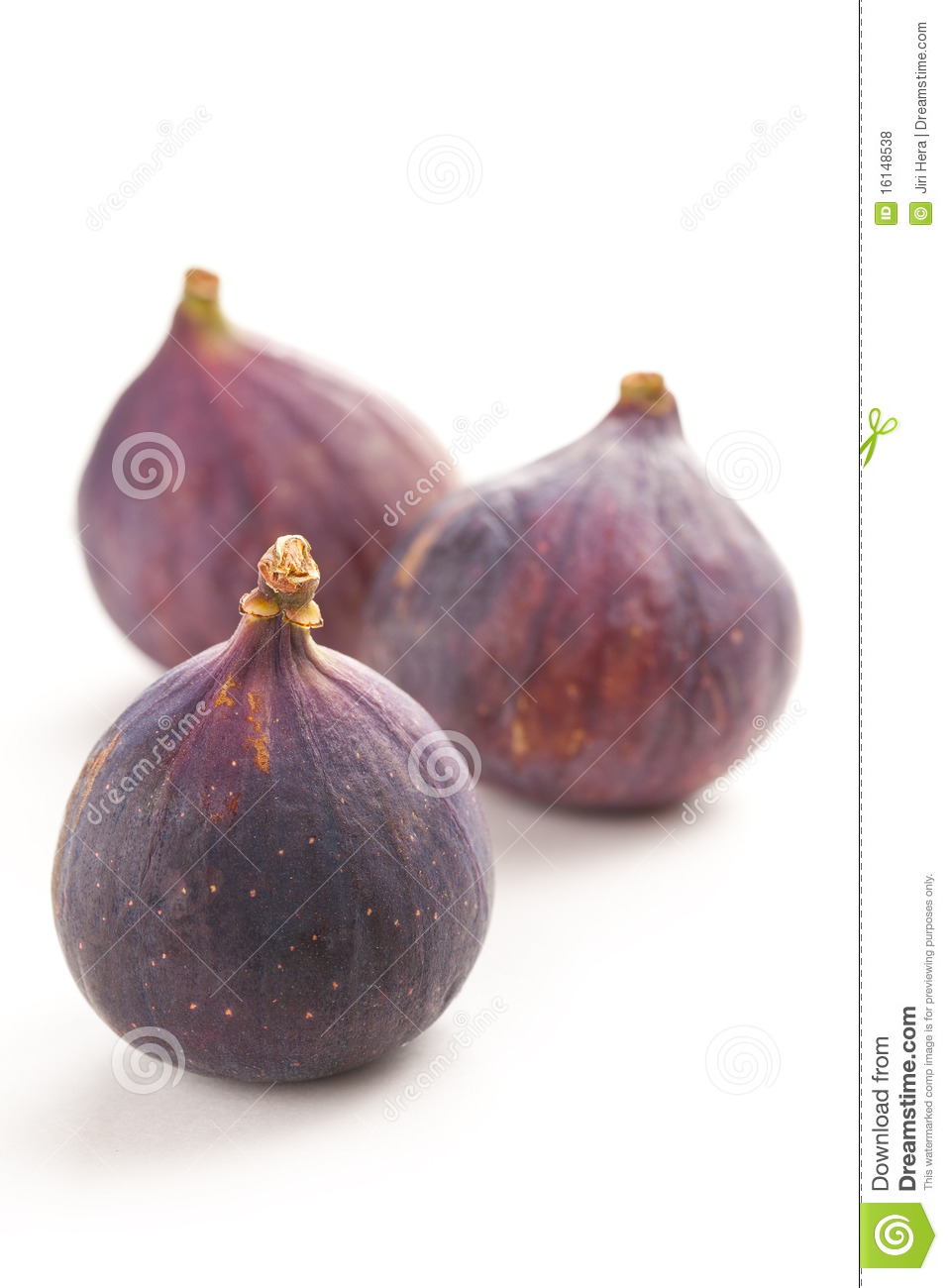 Fig fruit on white background