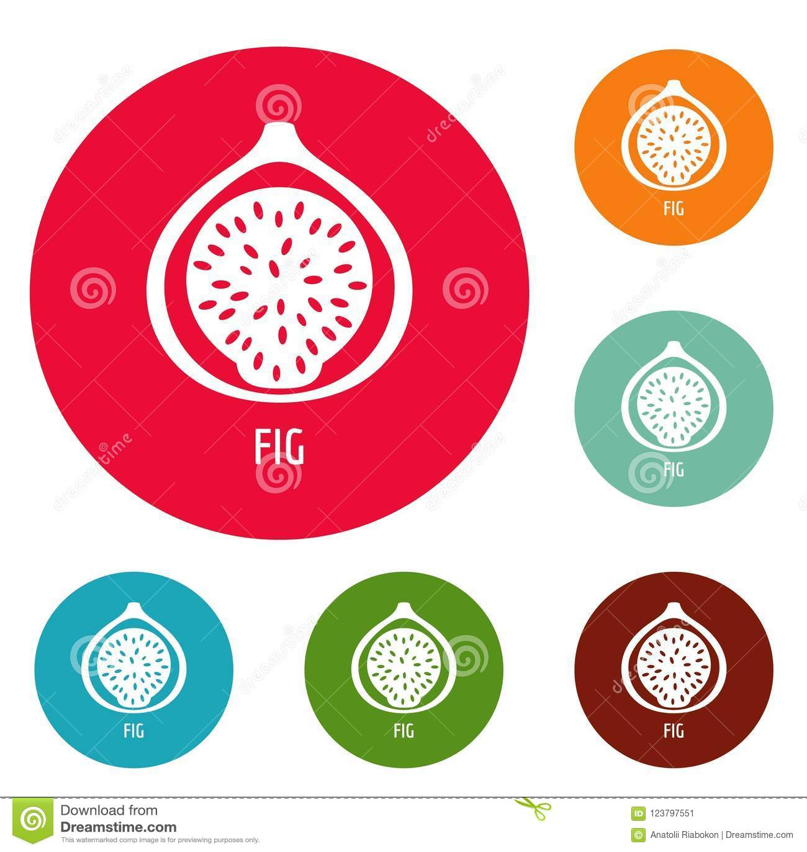 Fig ikon okręgu set