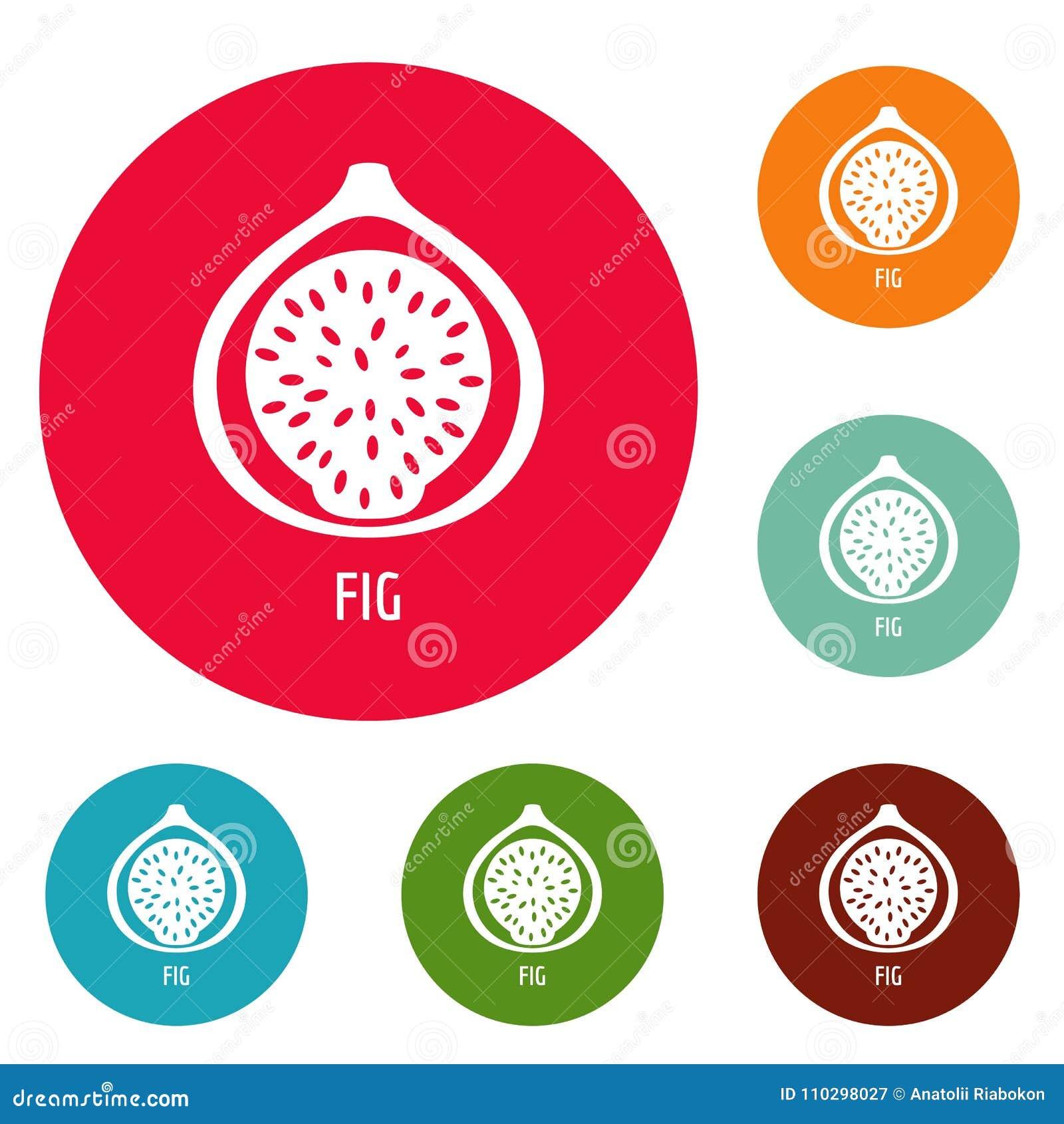Fig ikon okręgu ustalony wektor