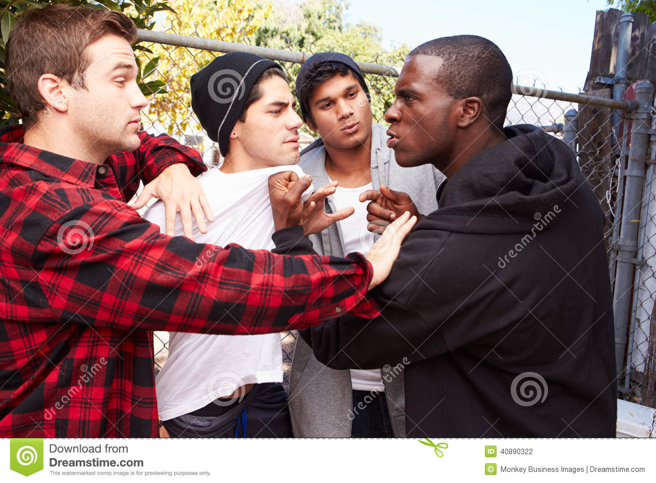 Fight Breaking Out Amongst Gang Members