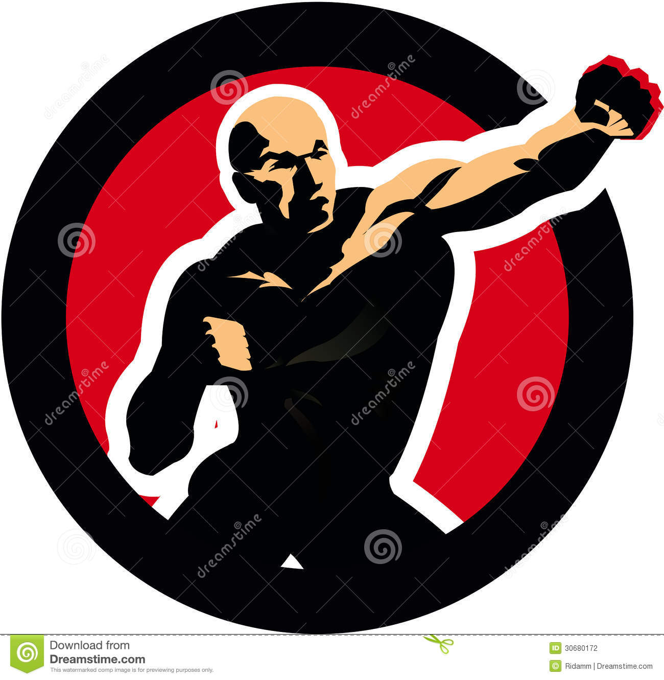 Fight Figure Boxing Man. Sport Icon Stock Vector - Image ...