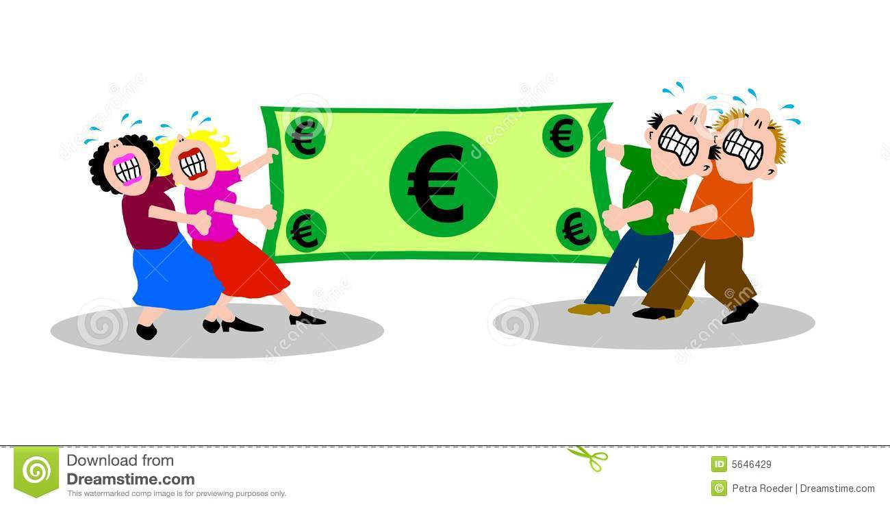 Fight Over Money Royalty Free Stock Images Image 5646429