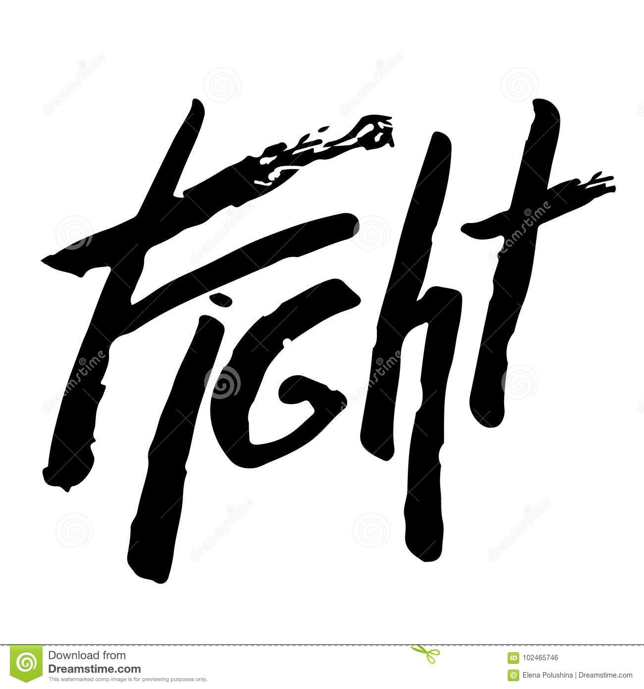 Fight T Shirt Lettering Calligraphy Inspiration Graphic Design