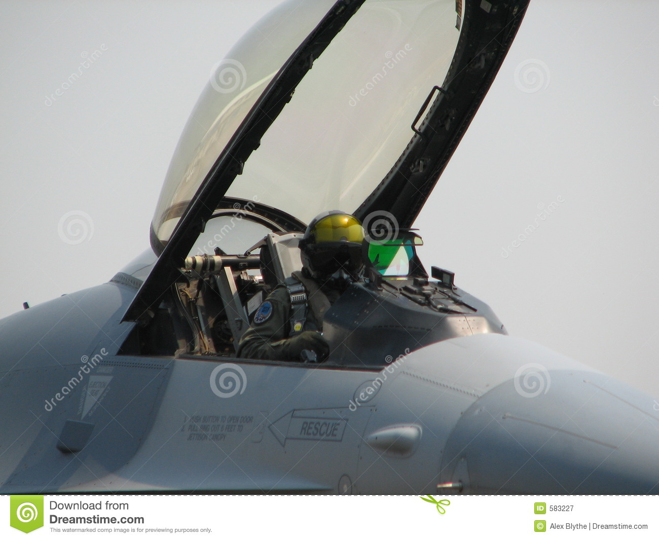 Fighter Jet Pilot Royalty Free Stock Photography Image 583227
