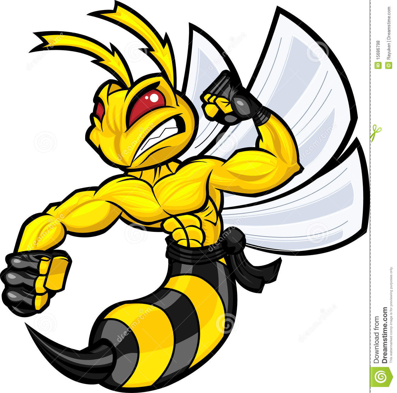 Fighting Hornet Royalty Free Stock Photos Image 15686798
