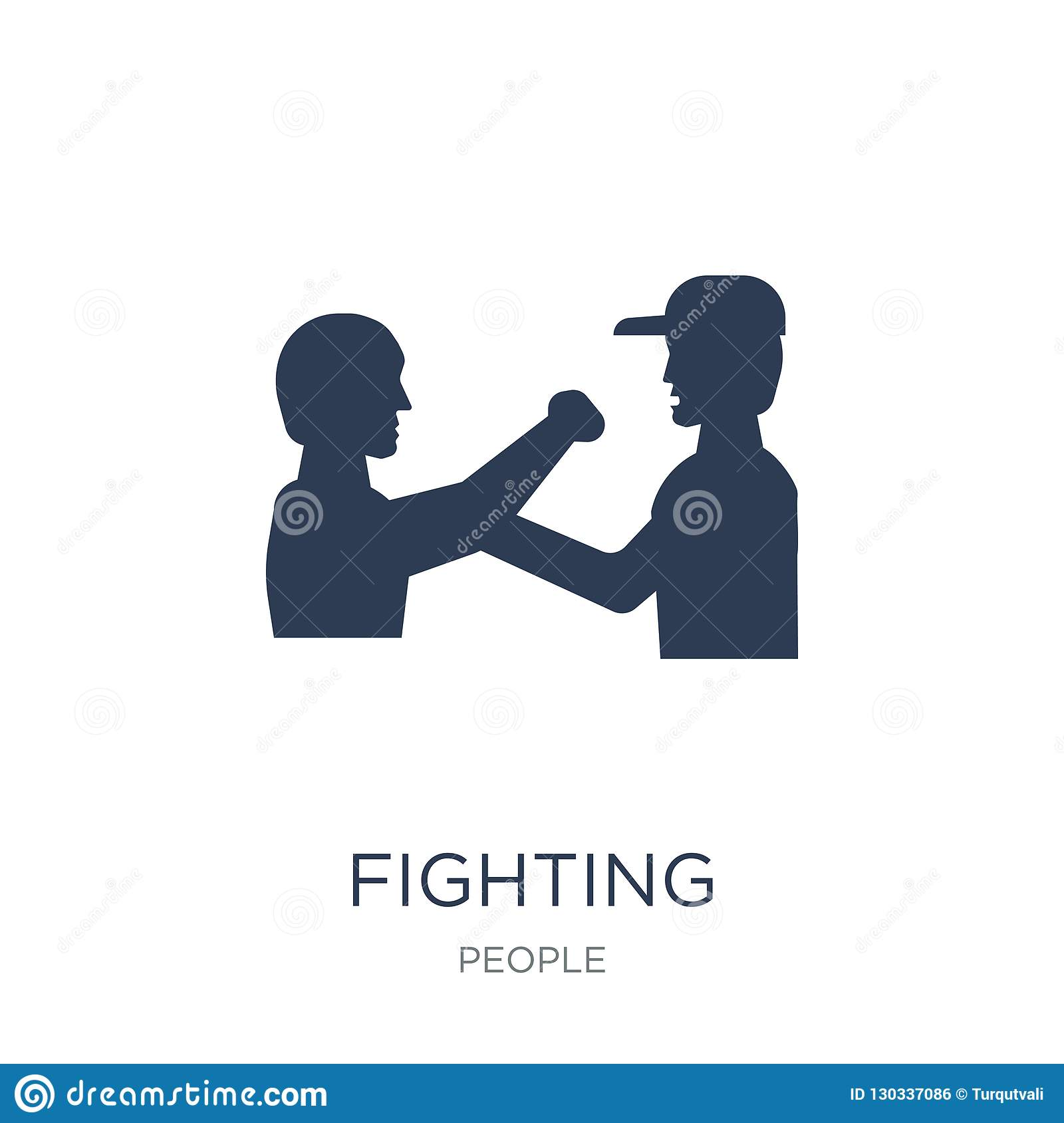 Fighting icon. Trendy flat vector Fighting icon on white background from People collection