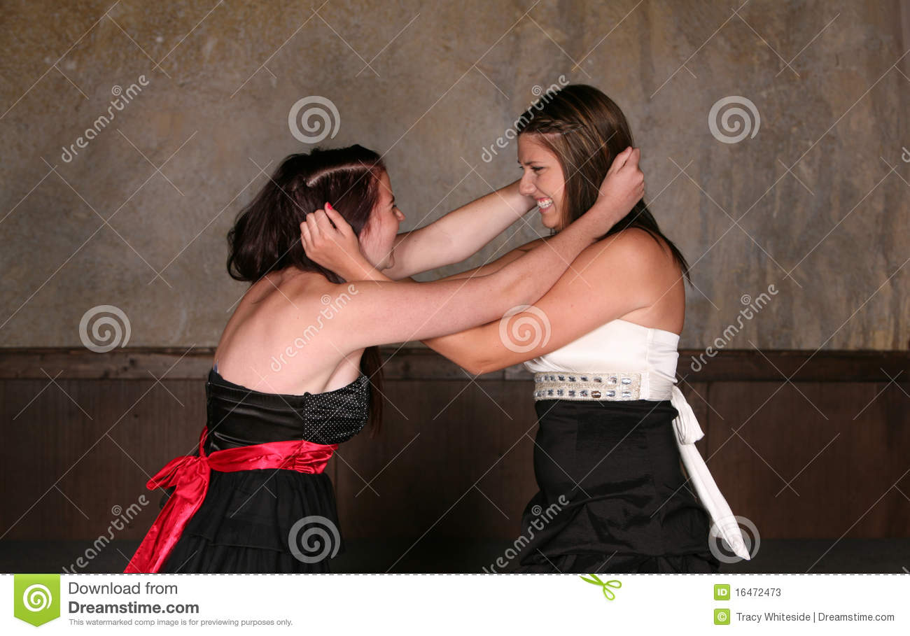 Ass. two girl fighting Love too