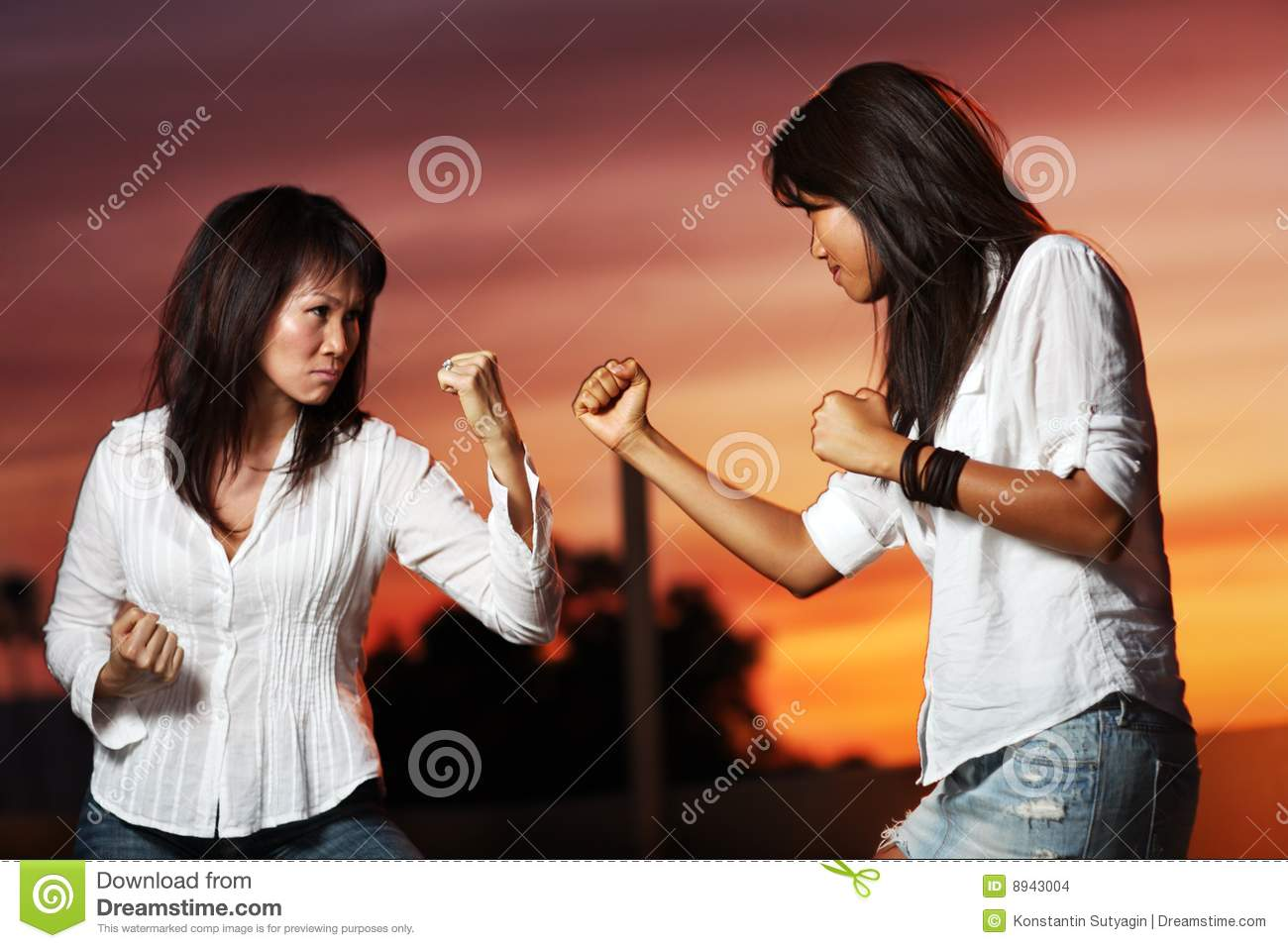 Intolerable. Asian fighting female not hear