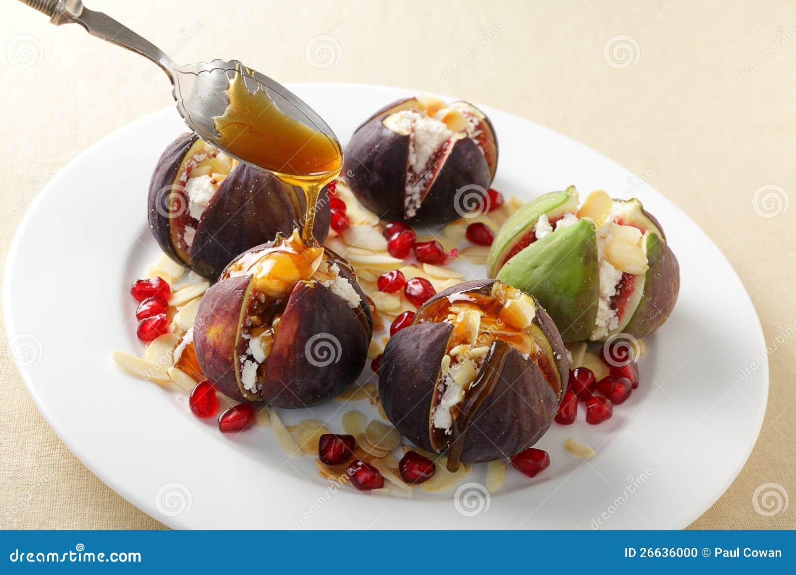 Figi z serem i miodem