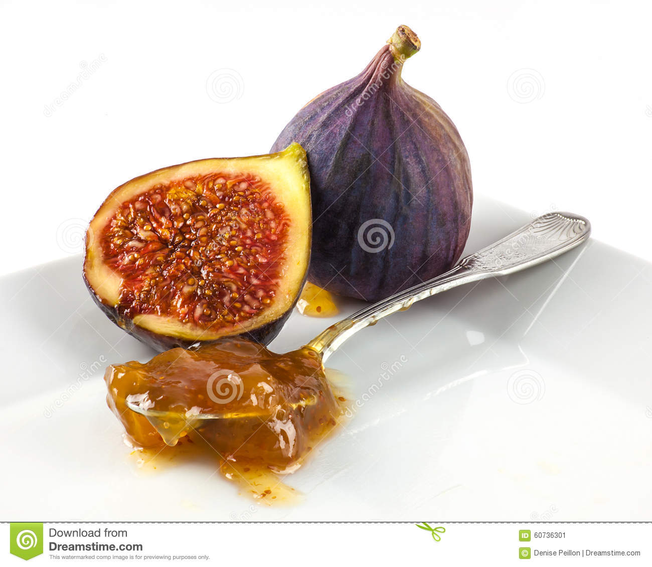 A Close Up Figs And Spoonful Of Jam