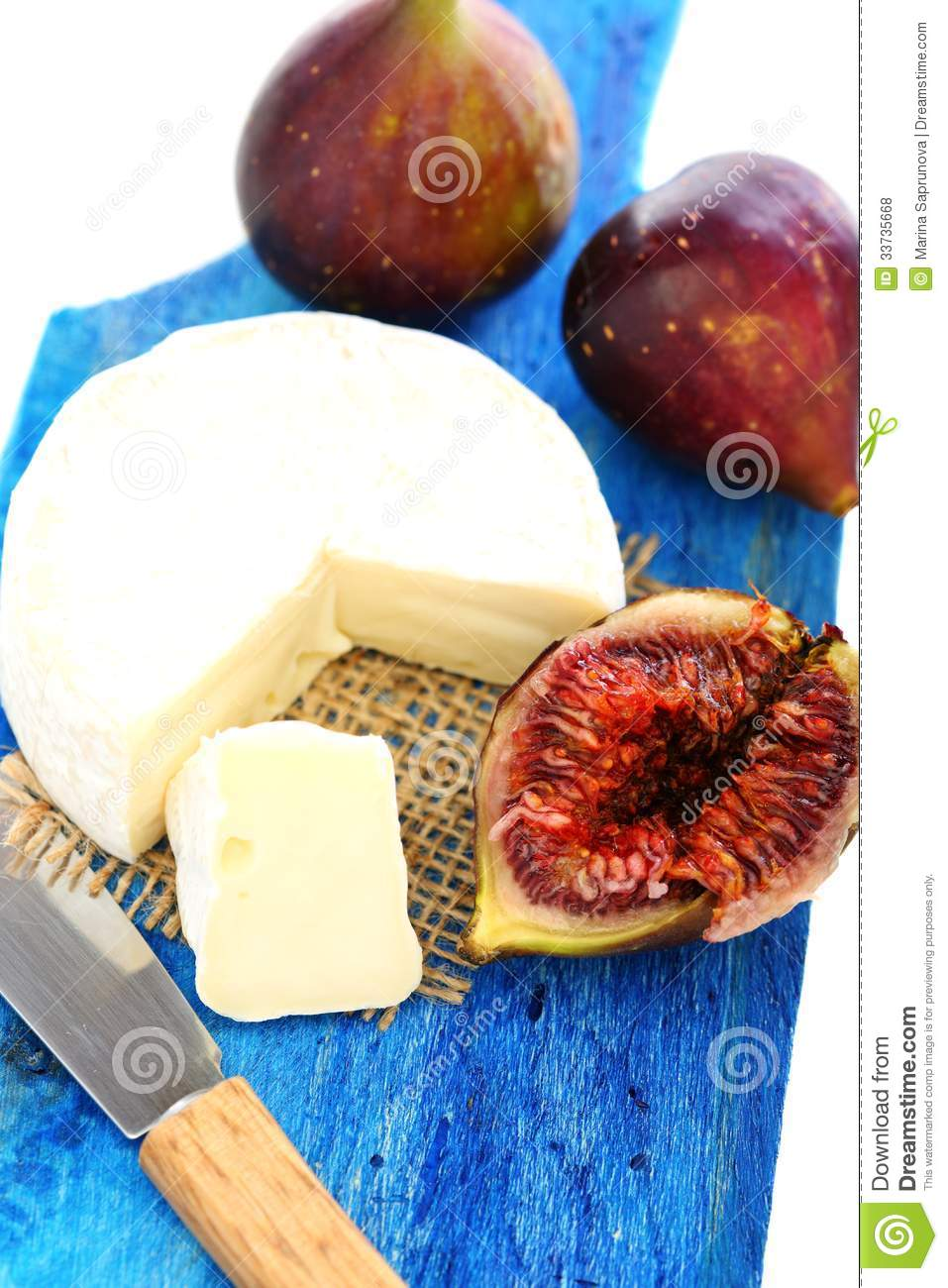 Figs And Cream Cheese. Royalty Free Stock Photos - Image: 33735668