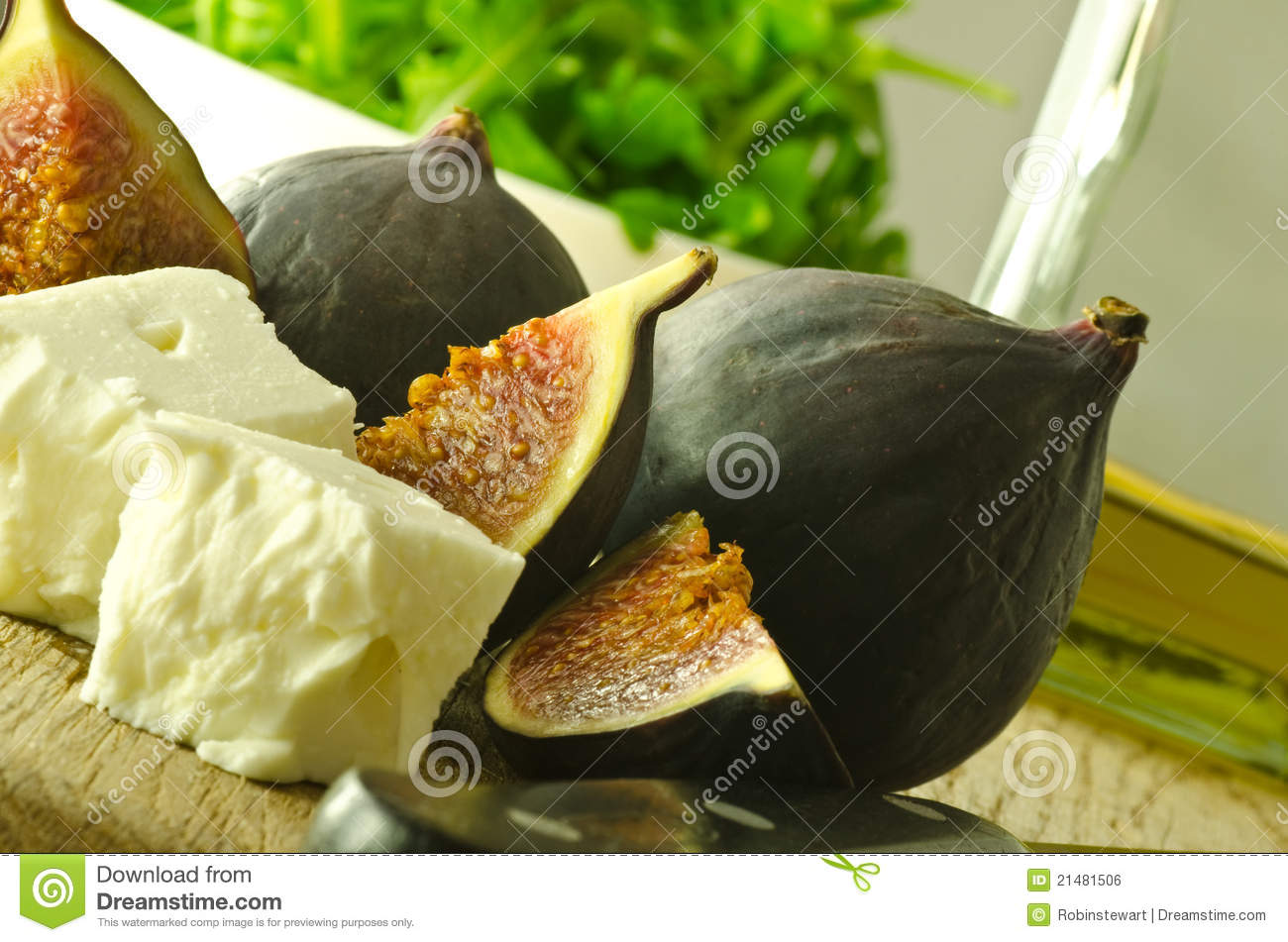 Figs And Feta Cheese Royalty Free Stock Image - Image: 21481506