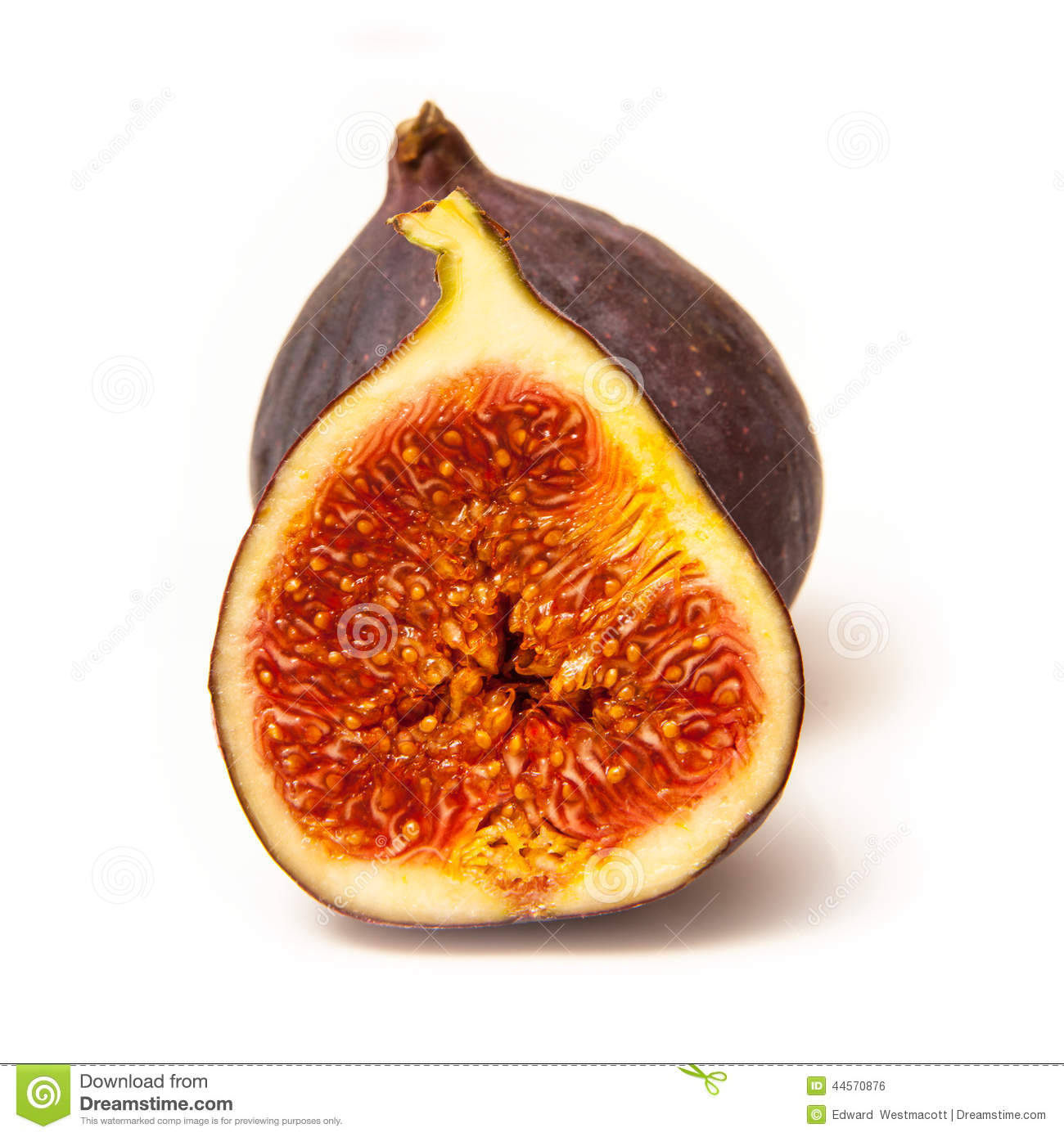 figs isolated on a white studio background.