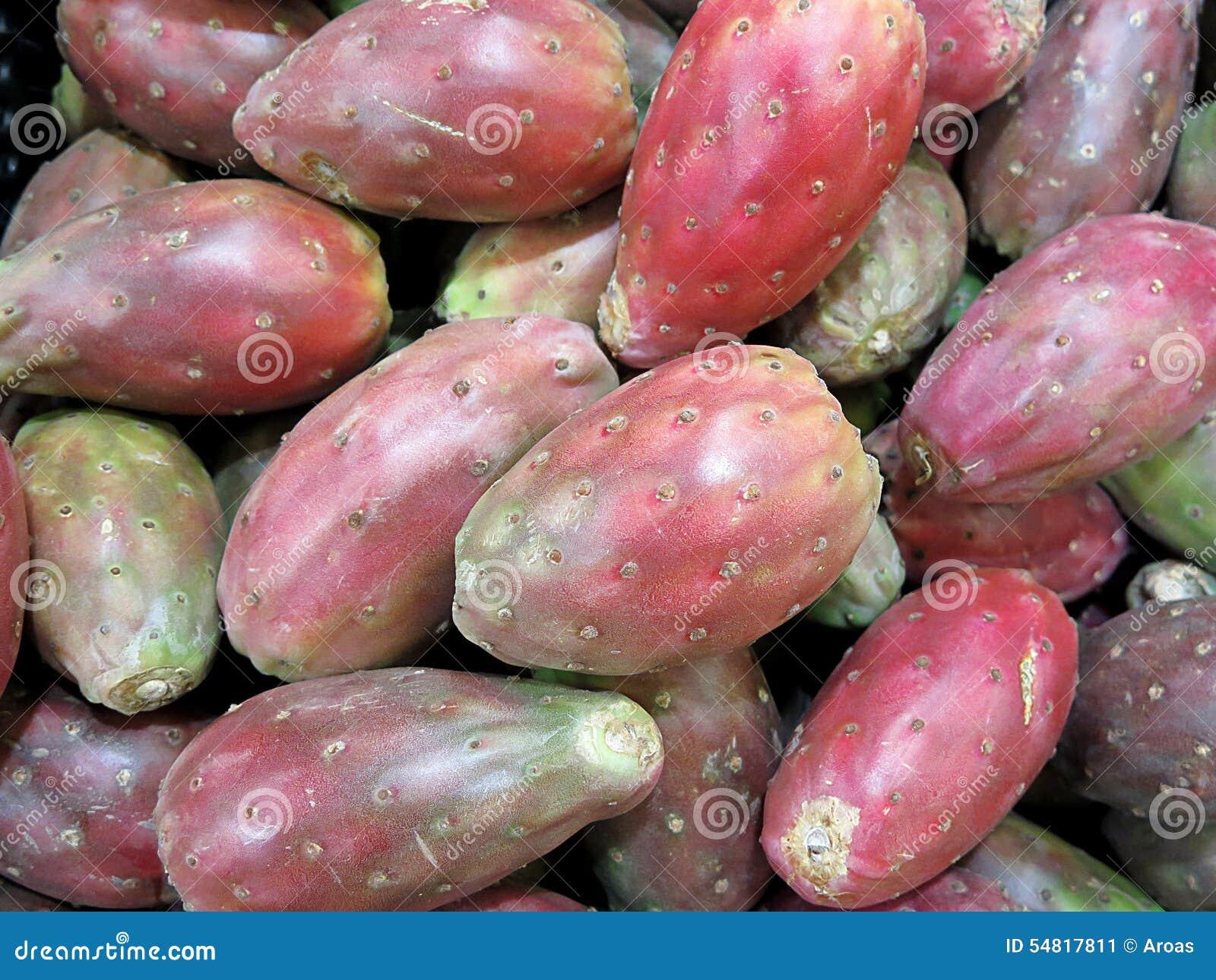 Figue de barbarie rouge image stock image du r gime 54817811 - Comment manger figue de barbarie ...