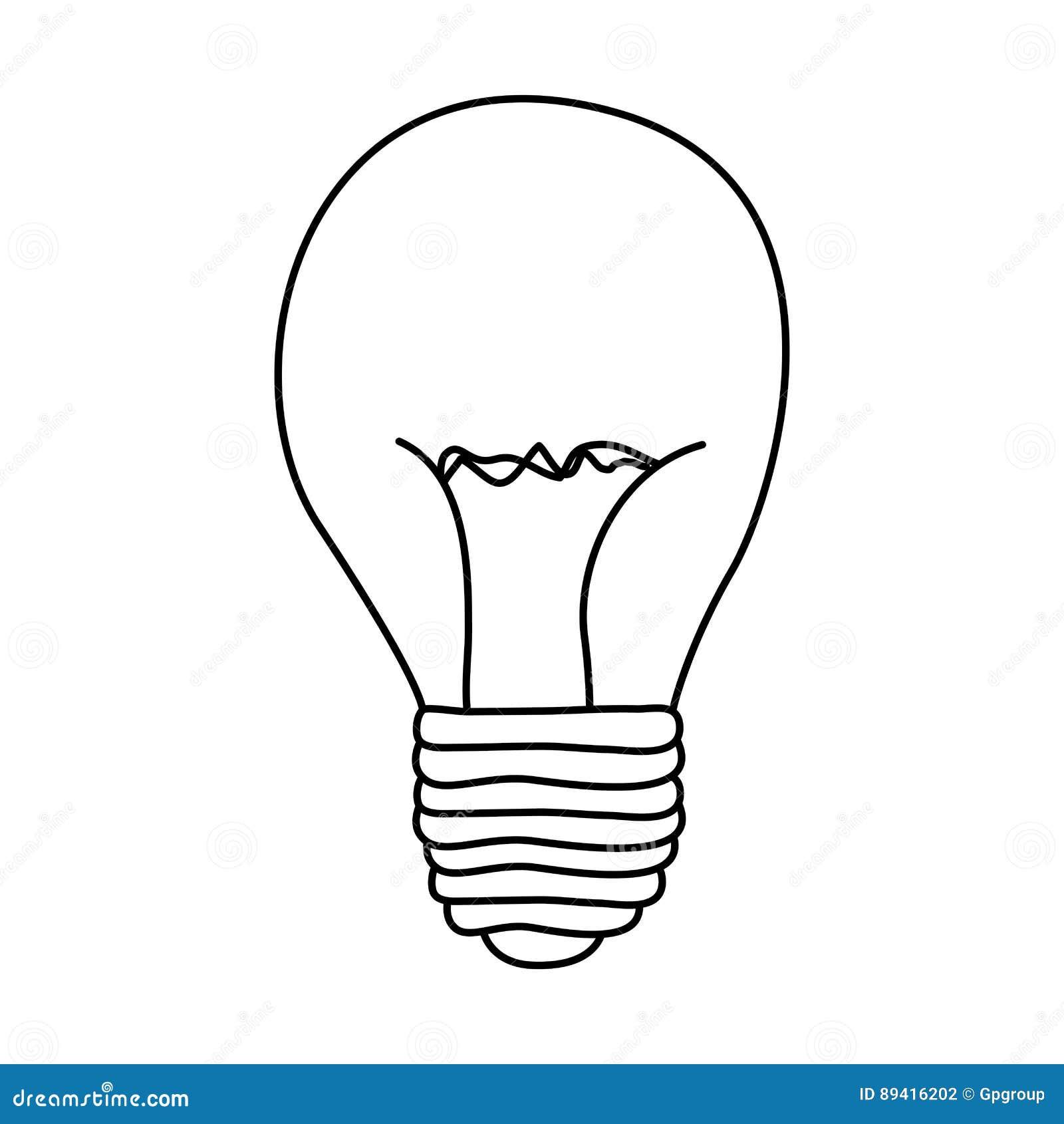 Figura ícone do poder do bulbo