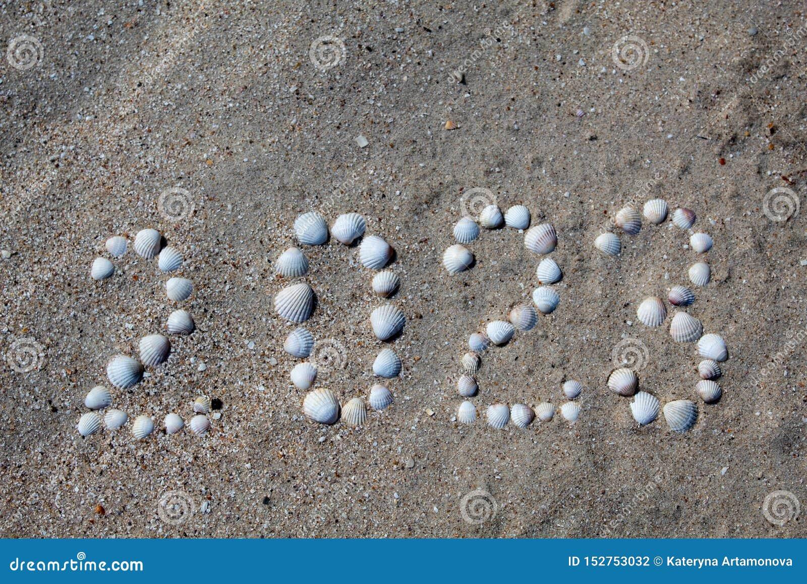 Figura '2023 'é apresentada na areia com escudos