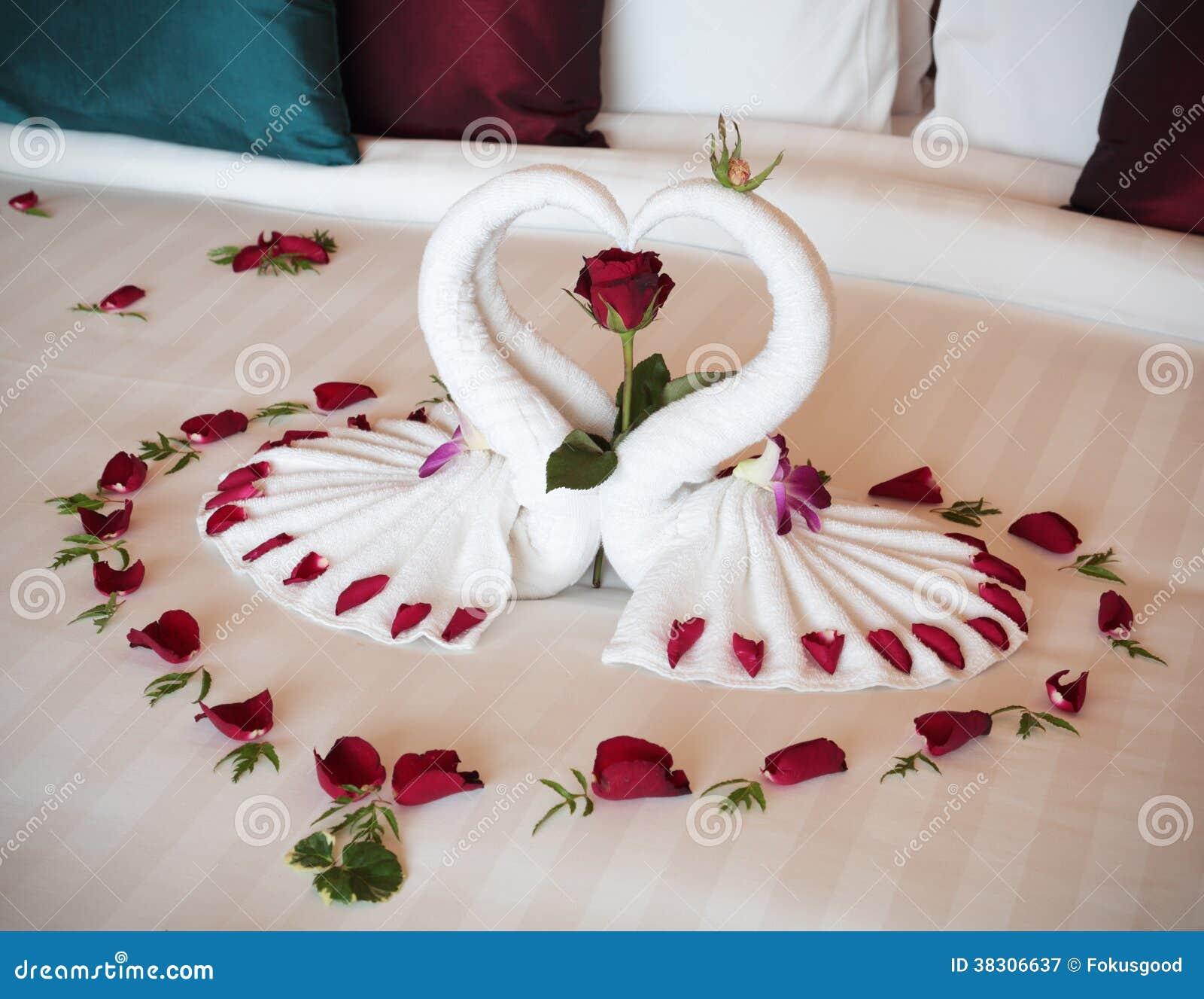 Figura cisnes de las toallas - Decoracion con toallas ...