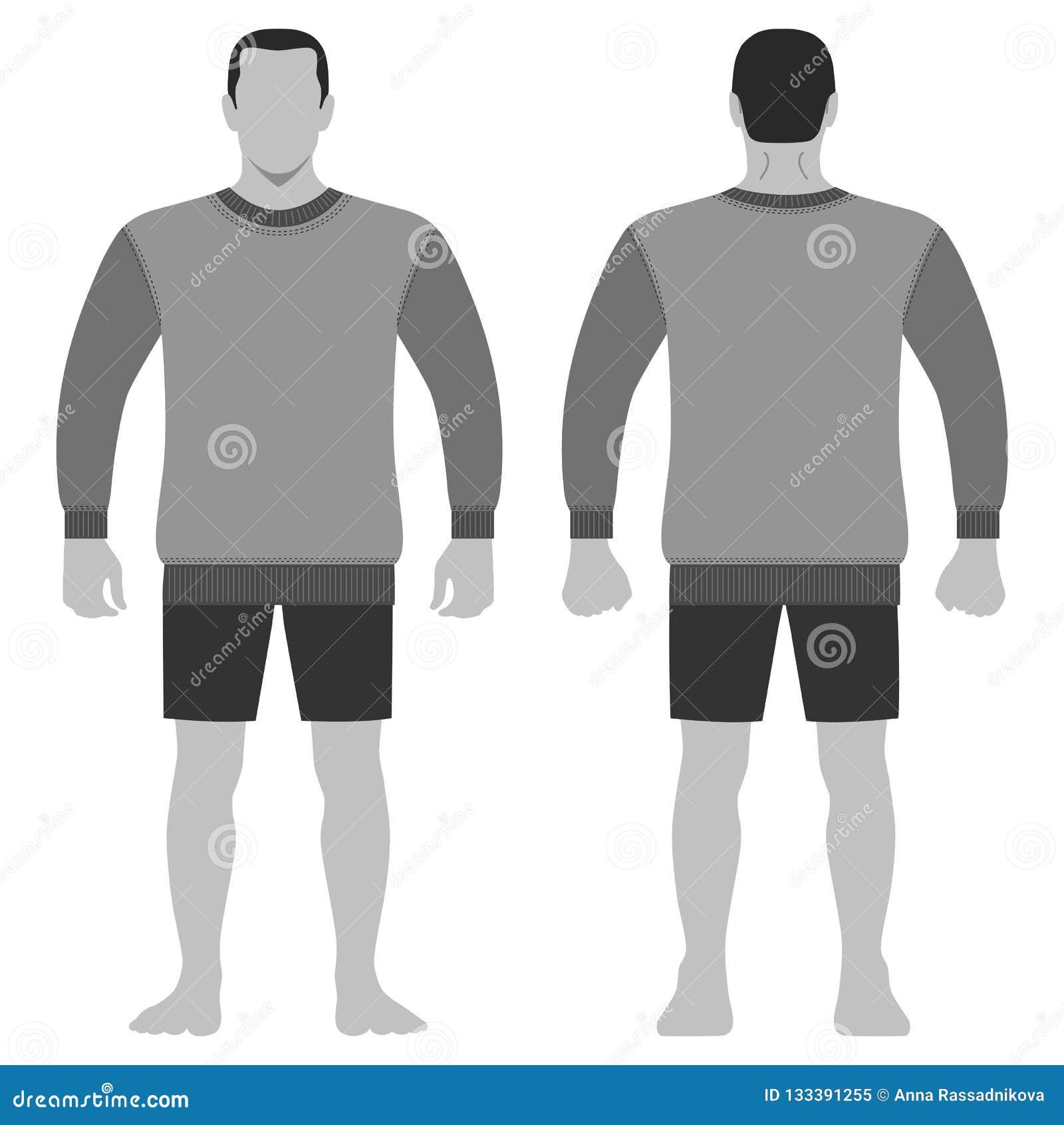 Figura Completa Do Molde Do Comprimento Do Corpo Do Homem Da