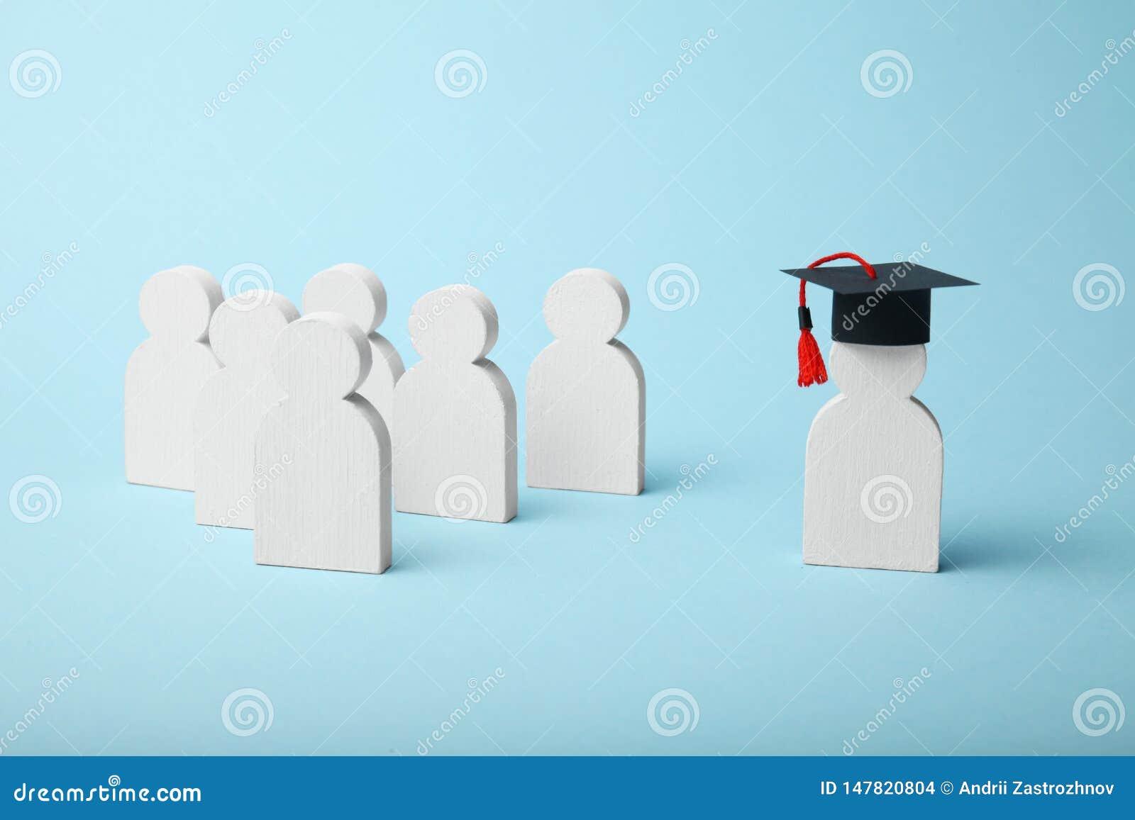 Figura de aprender a gente Concepto de la educaci?n escolar de la universidad y