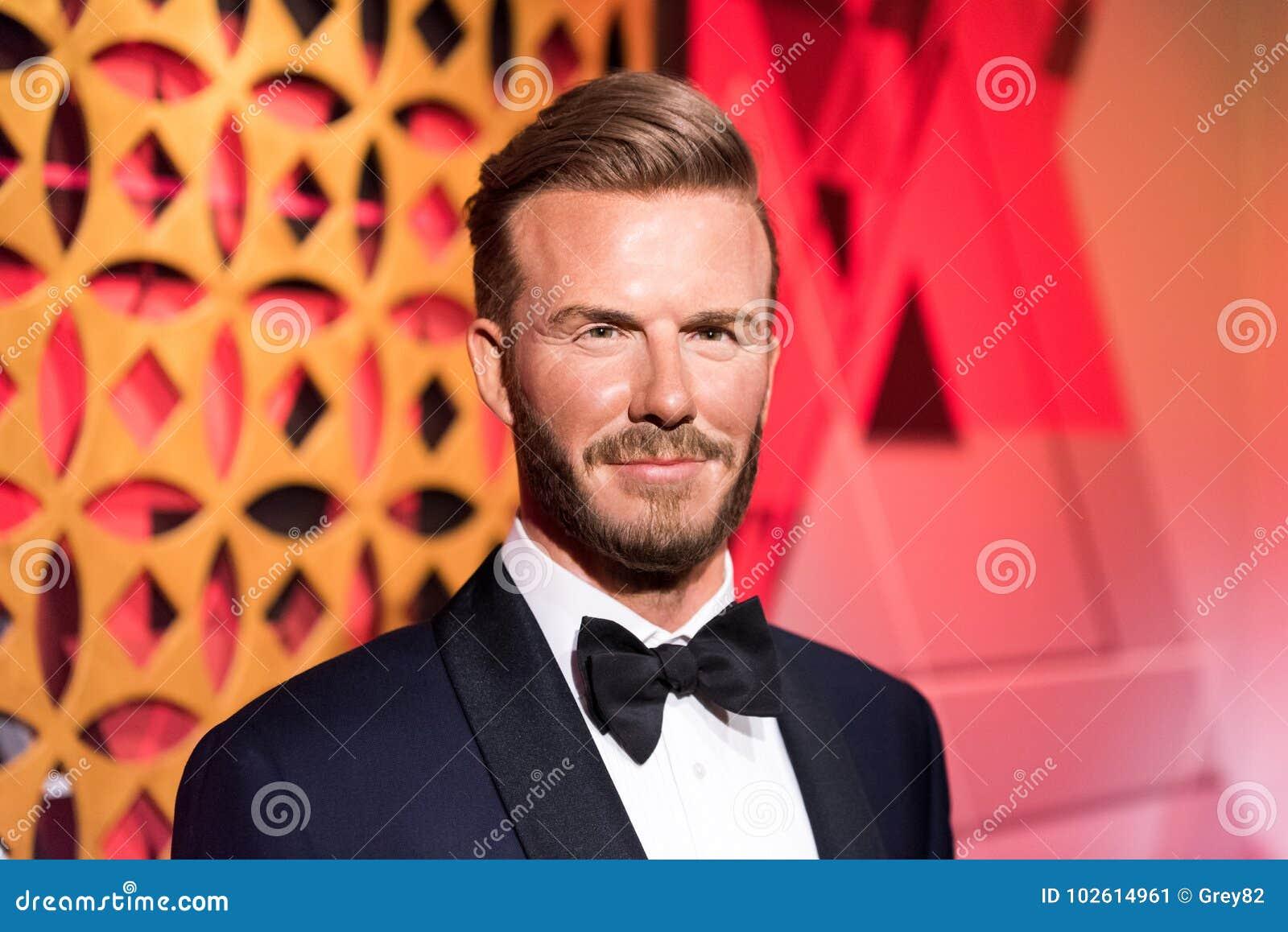 34a1afd06ab8aa ISTAMBUL, TURQUIA - 16 DE MARÇO DE 2017: Figura de cera de David Beckham no  museu da senhora Tussauds em Istambul David Beckham é um jogador de futebol  ...