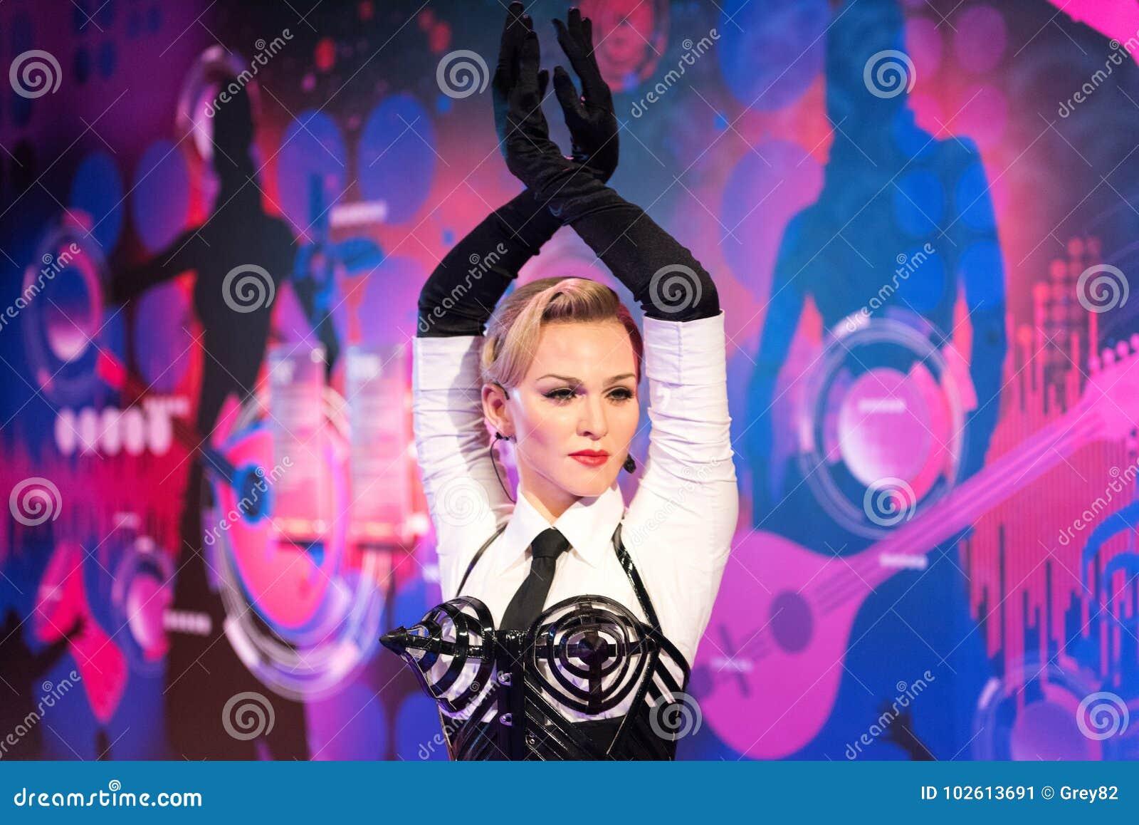 Figura de cera de Madonna en el museo de señora Tussauds en Estambul