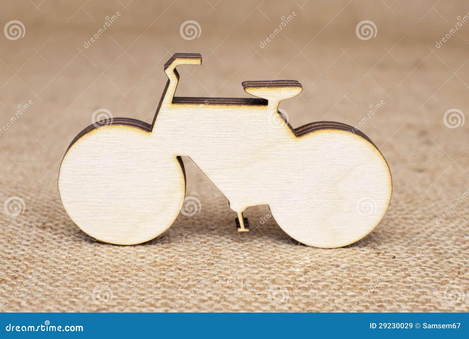 Download Figura De Madeira Da Bicicleta Imagem de Stock - Imagem de stylize, macro: 29230029