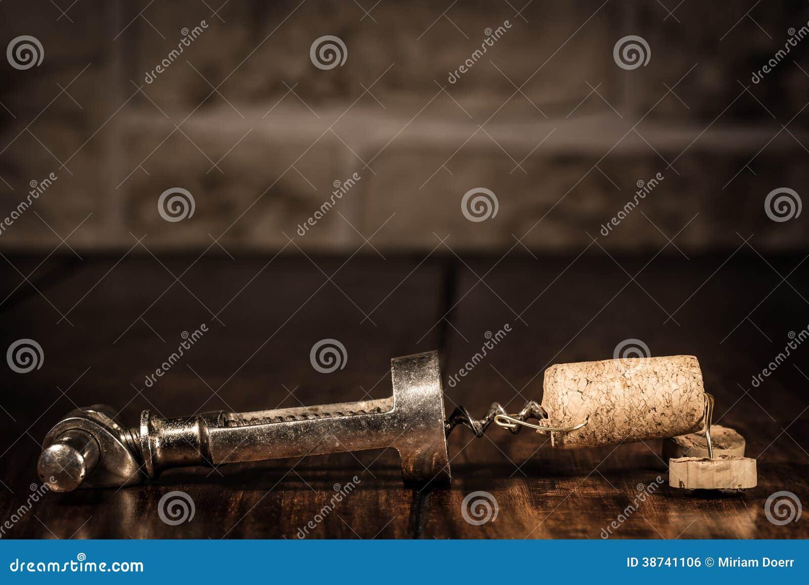 Figura del corcho del vino, captura divertida del concepto