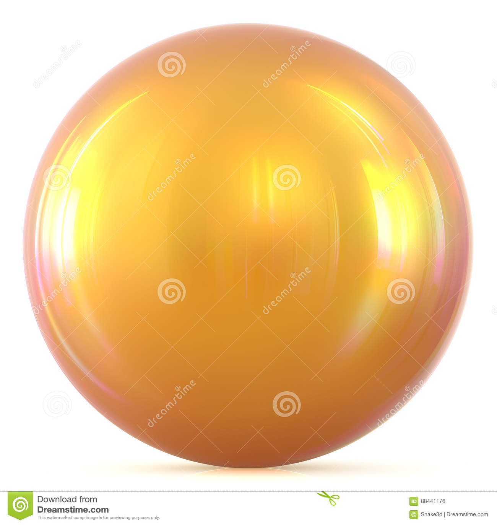 Figura di base del cerchio del bottone rotondo giallo soleggiato dorato della sfera della palla