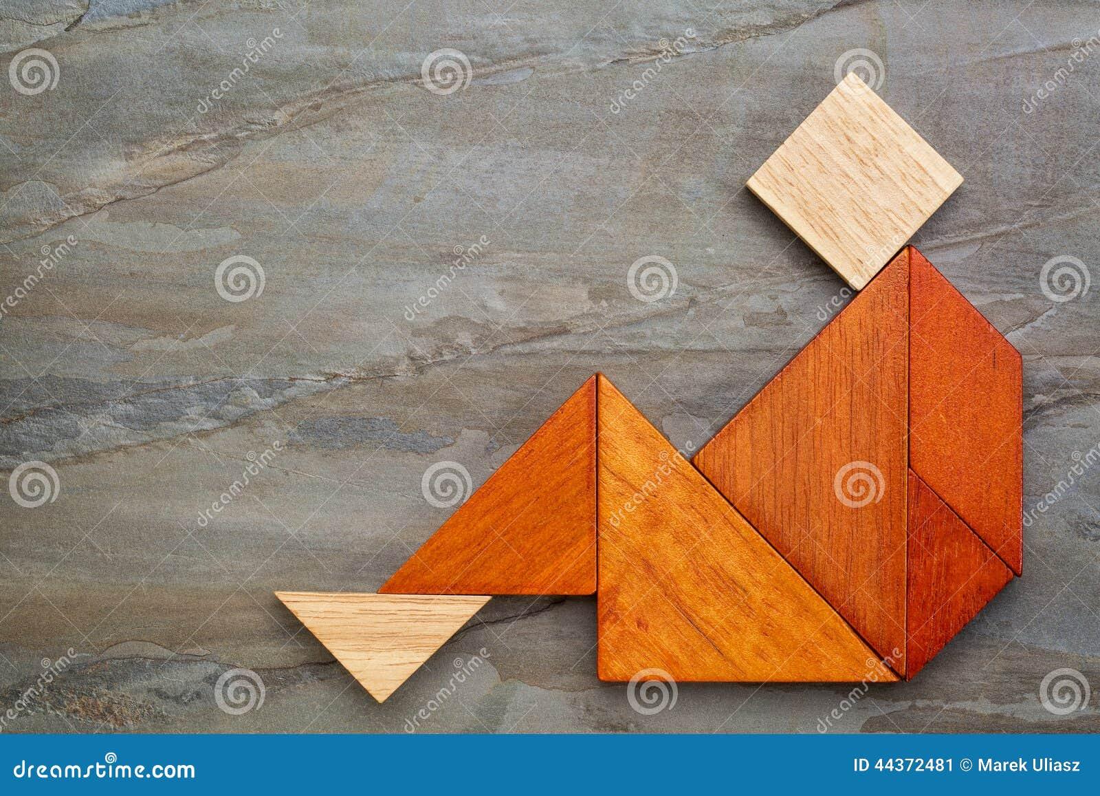 Figura di seduta del tangram