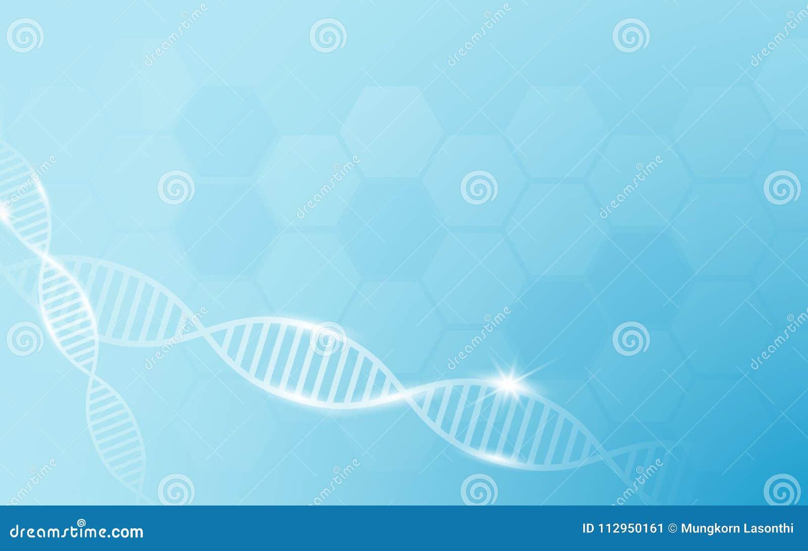 Figura di stella bianca DNA e medicina, fondo di concetto di scienza