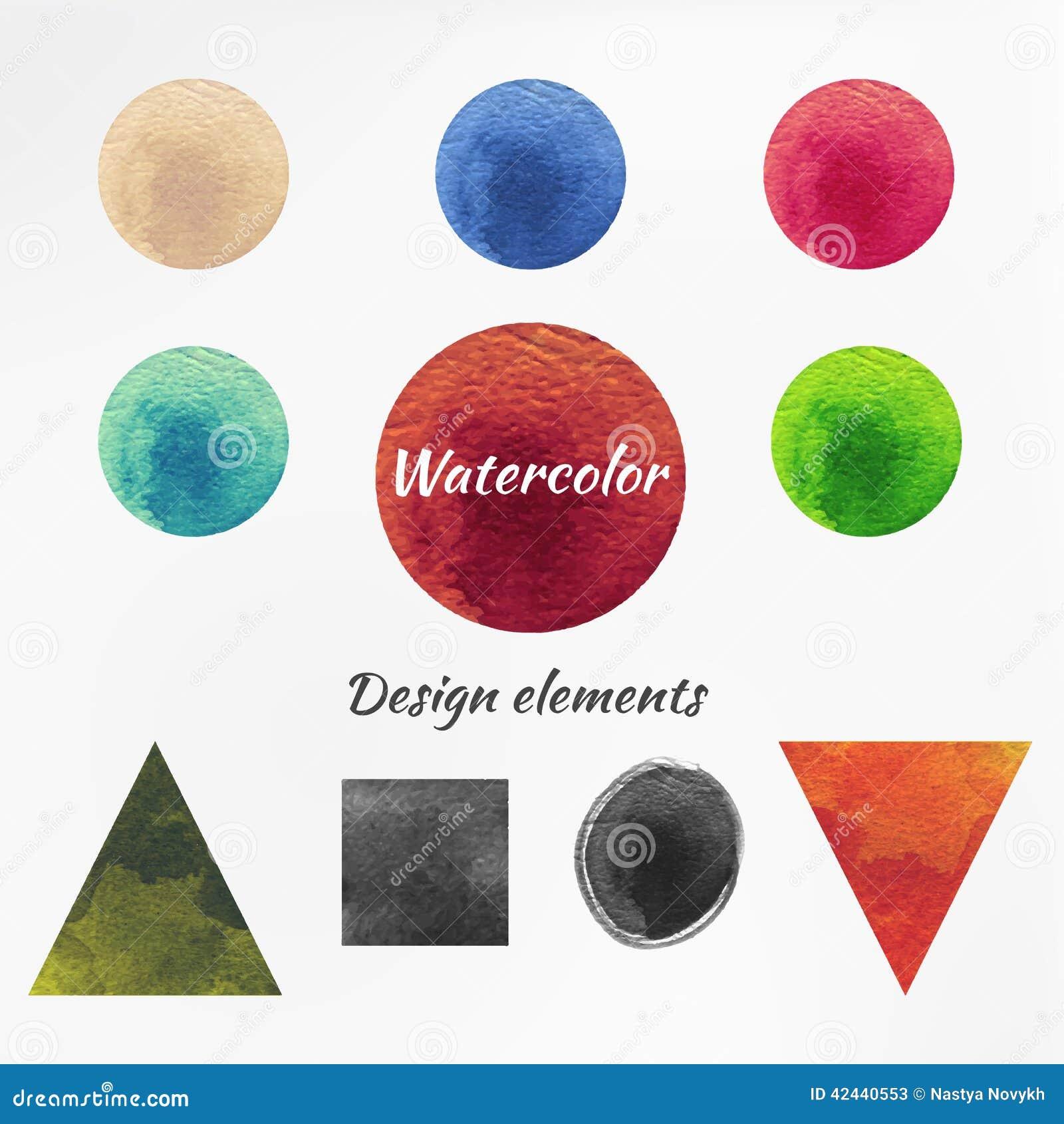 Figura elementos aislados de la acuarela del diseño del vector