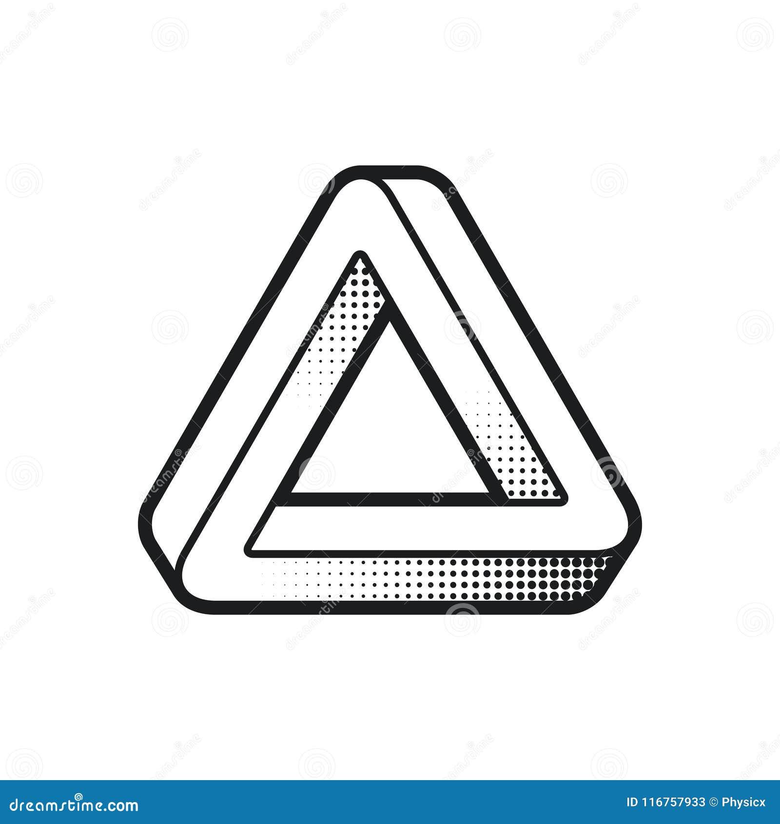 Figura Impossibile Illusione Ottica Elemento Di Web Design Riga