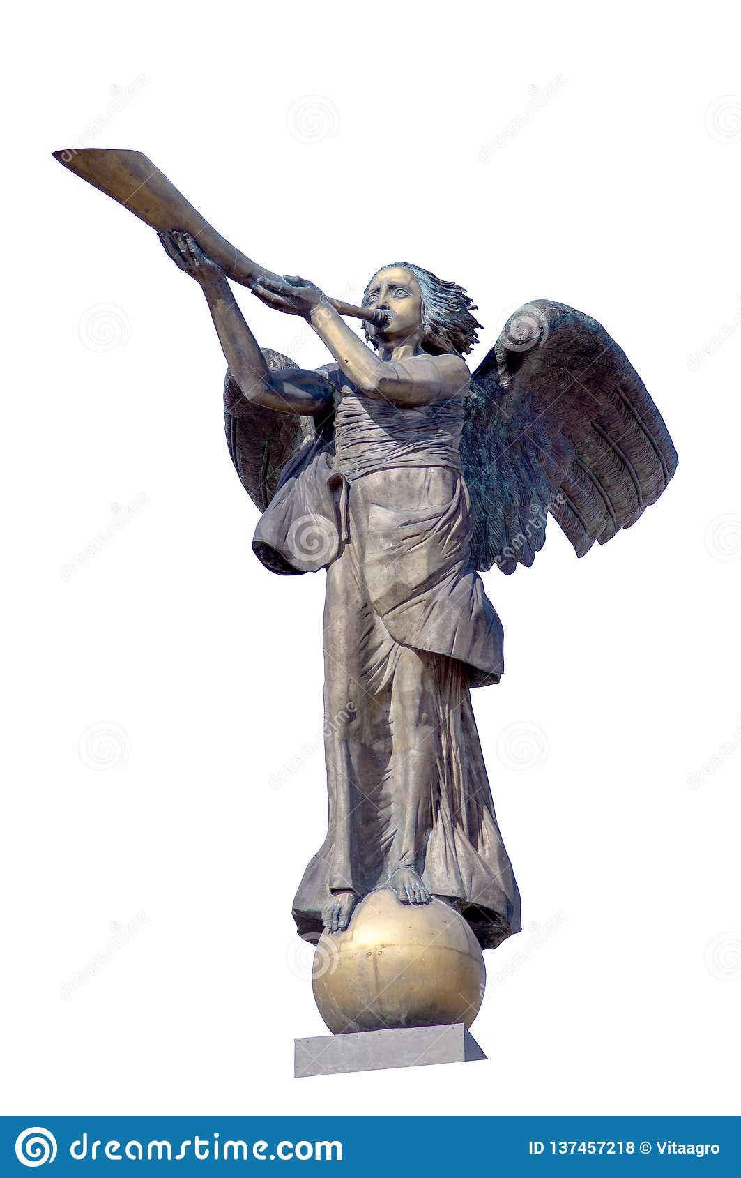 Figura simbolica di un angelo che gioca uno strumento musicale