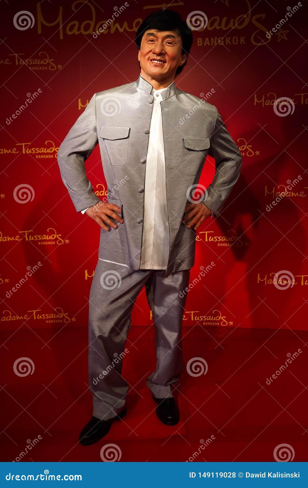 Figura woskowa Jackie Chan przy Madame Tussauds wosku muzeum